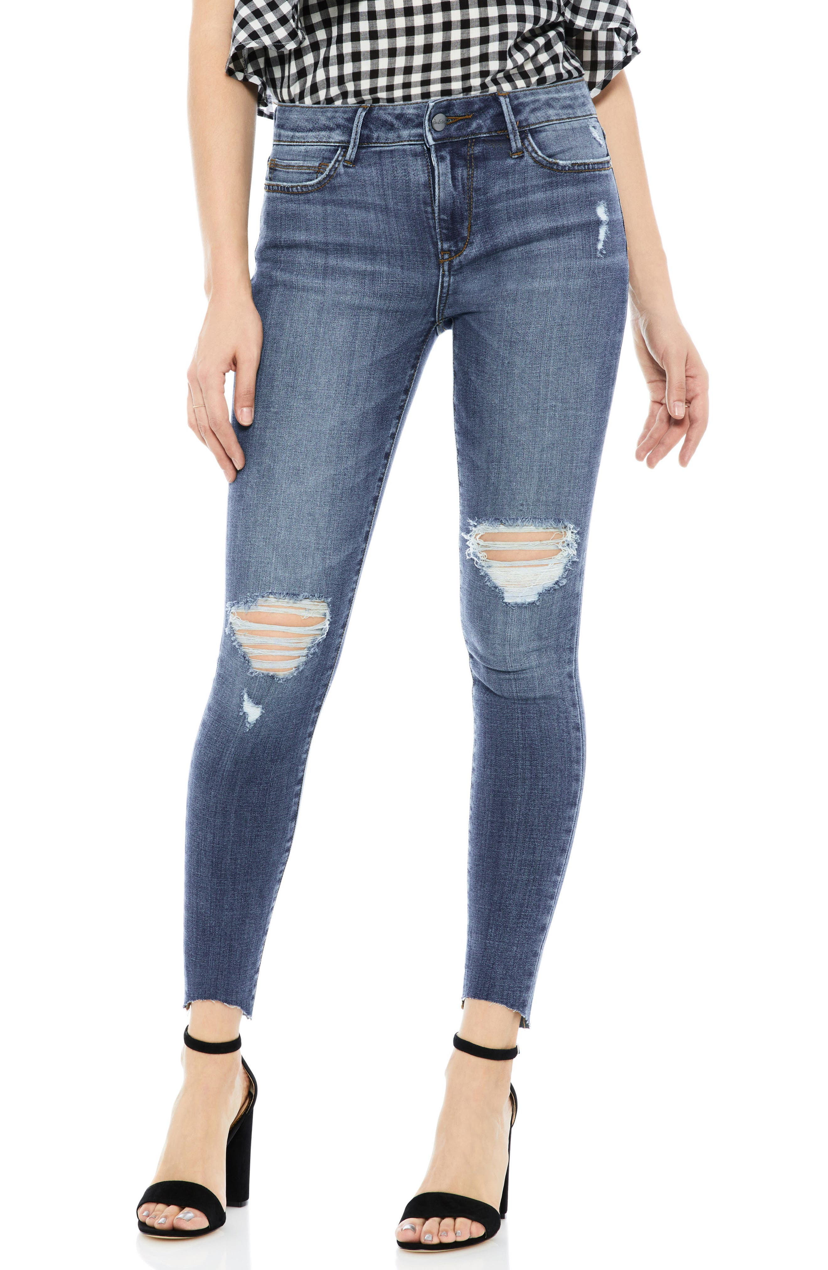 The Kitten Ankle Jeans,                         Main,                         color, Amelia