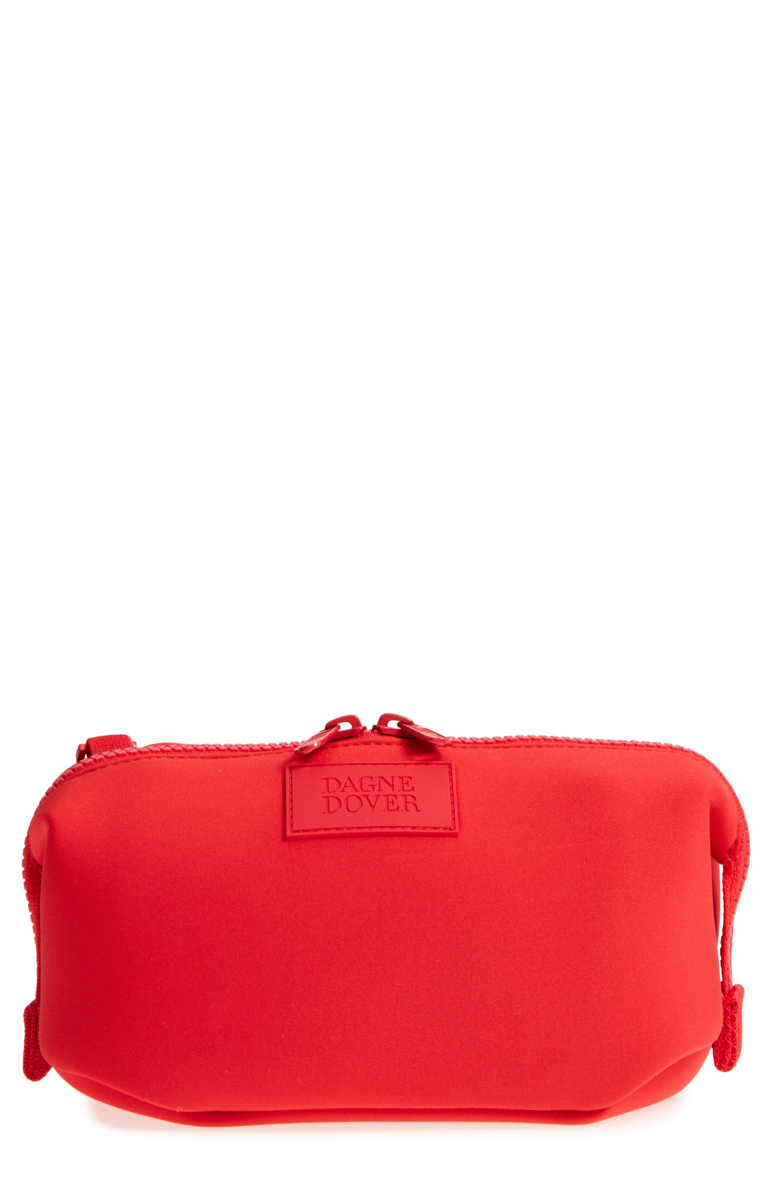8cc5436746 Dagne Dover Small Hunter Neoprene Toiletry Bag In Poppy