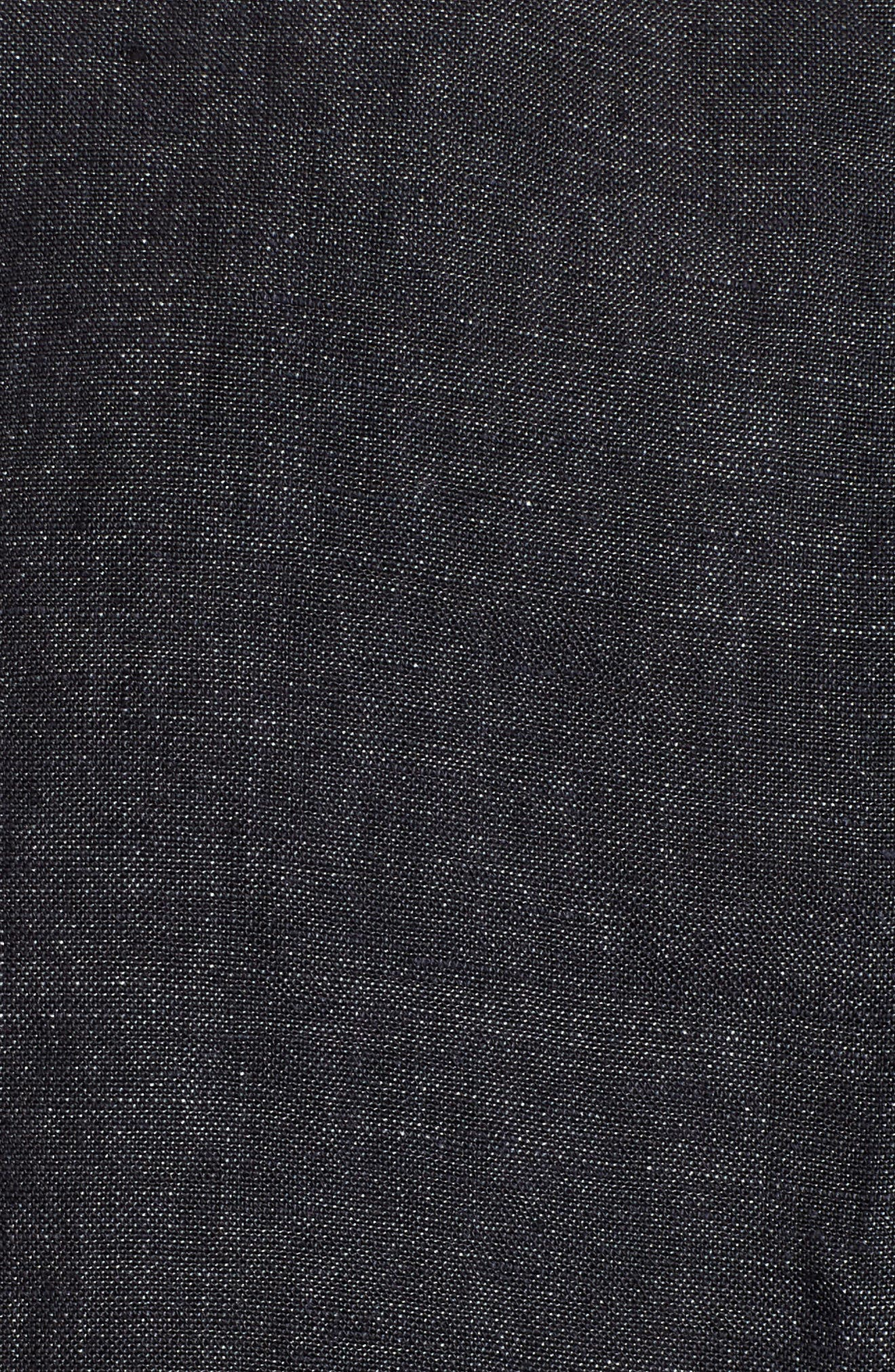 Short Sleeve Organic Linen Flutter Top,                             Alternate thumbnail 6, color,                             Denim