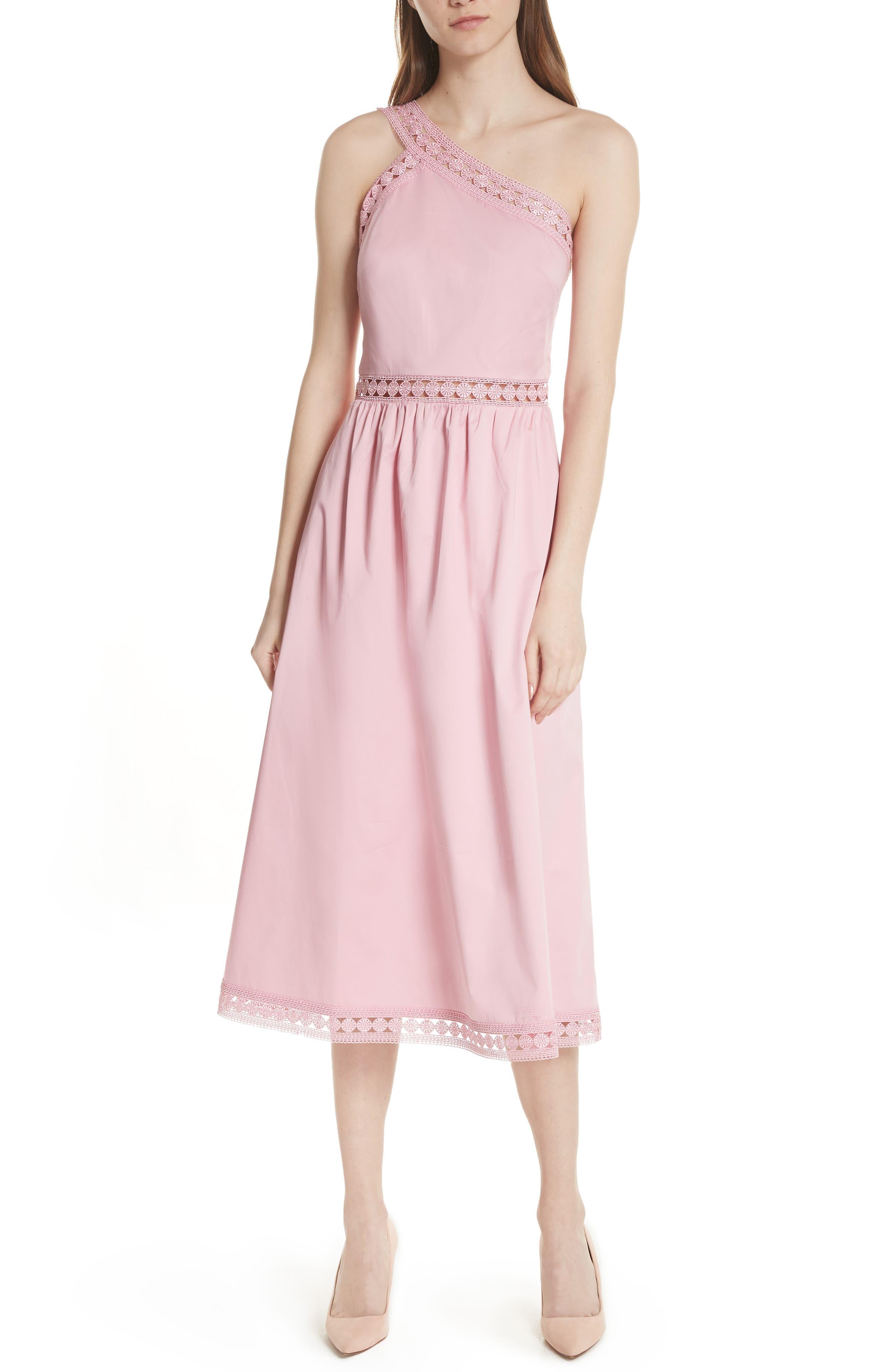 Kallii Midi Dress,                         Main,                         color, Dusky Pink