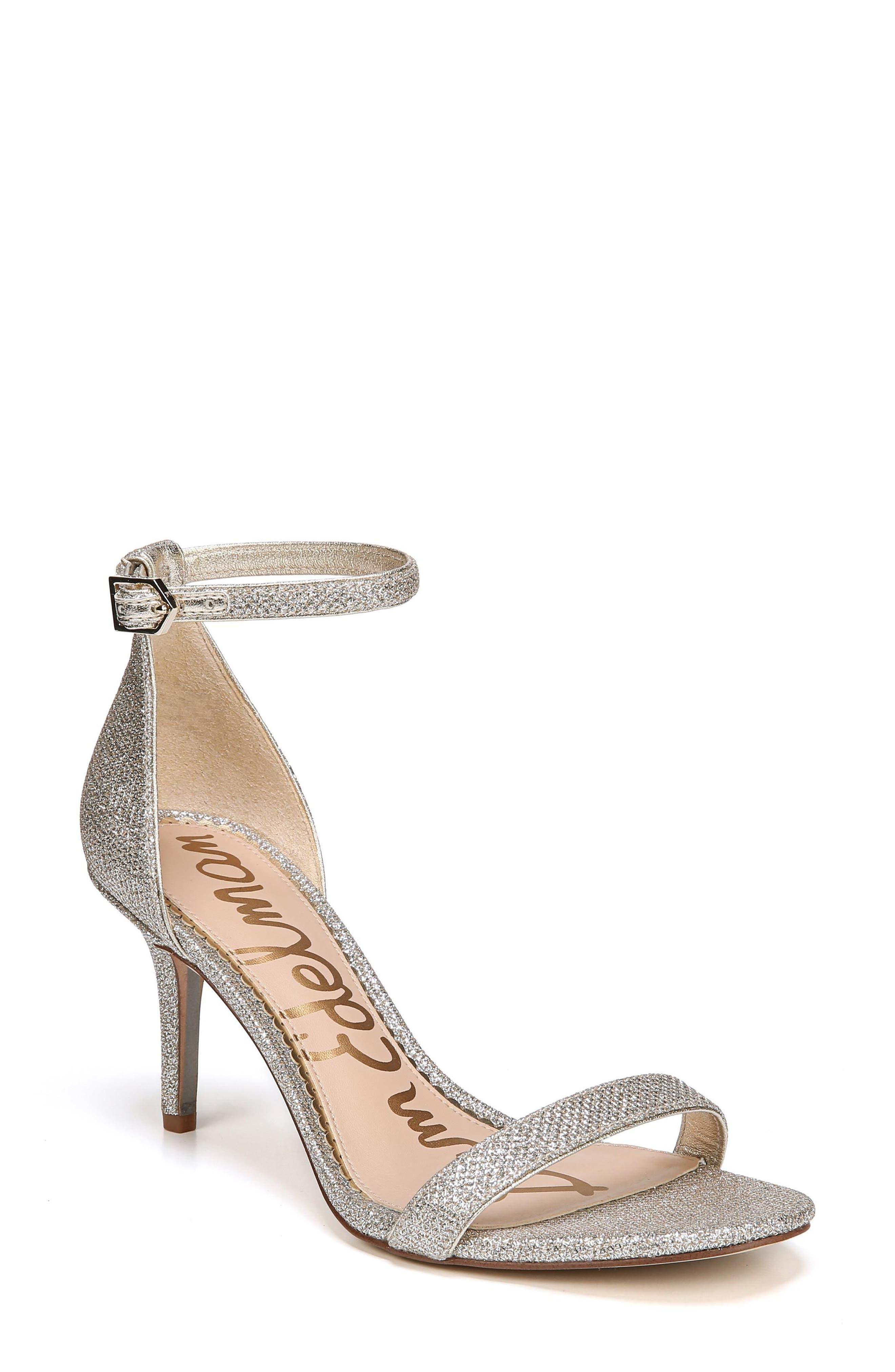 'Patti' Ankle Strap Sandal,                             Main thumbnail 1, color,                             Jute Fabric