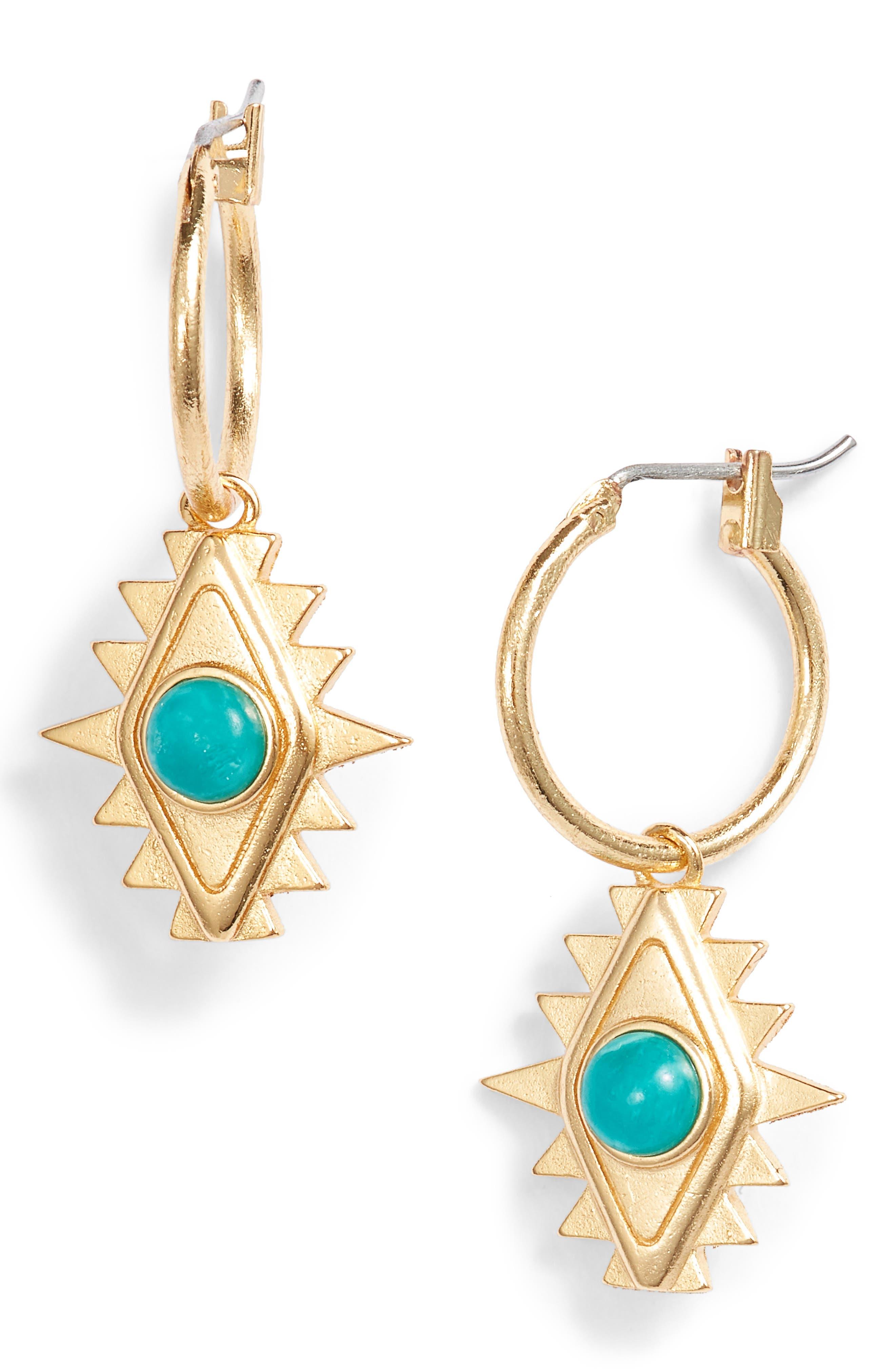 Mini Hoop Earrings,                             Main thumbnail 1, color,                             Gold