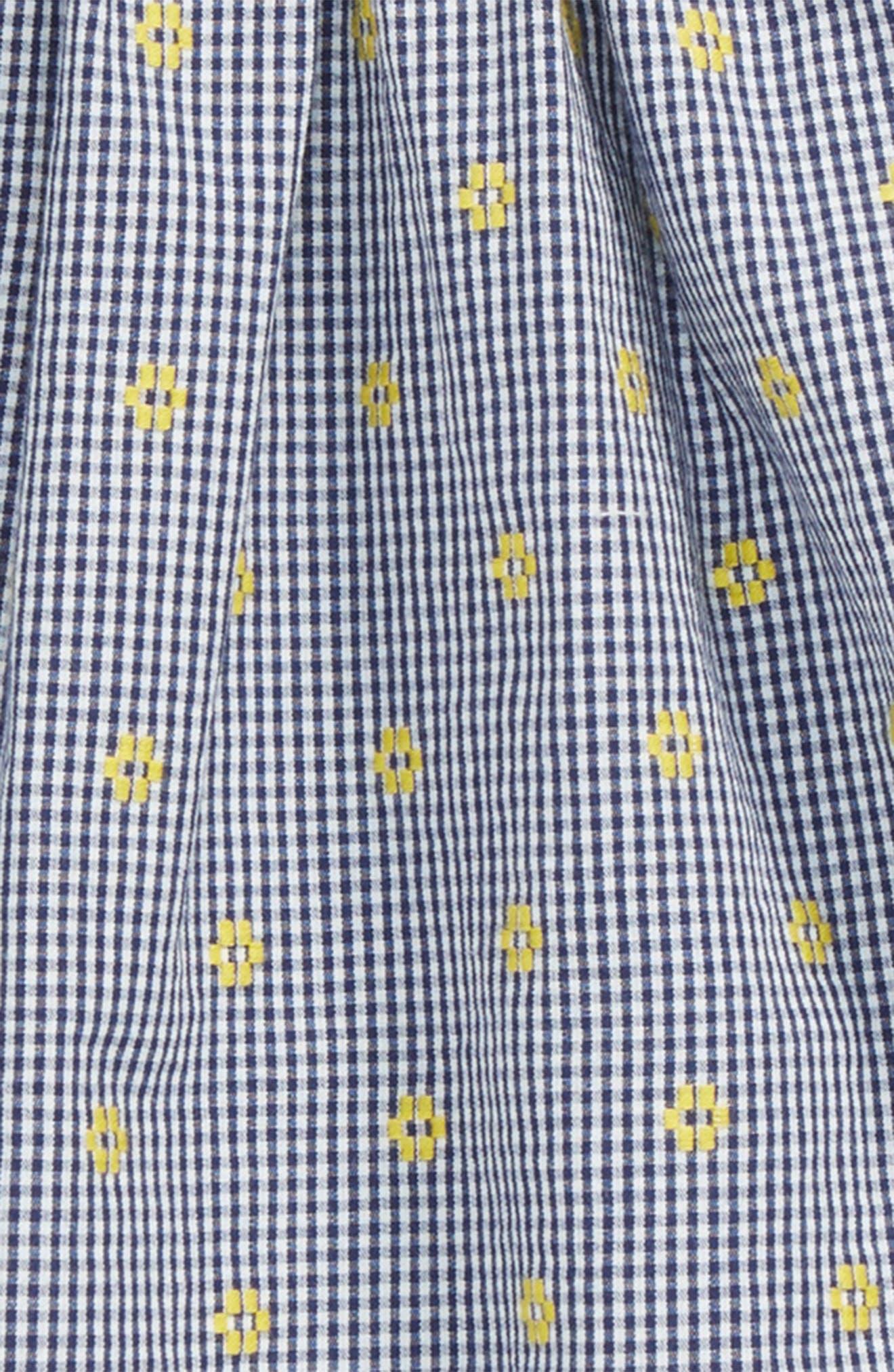 Flutter Sleeve Tunic & Shorts Set,                             Alternate thumbnail 2, color,                             Navy Ribbon- White Daisy