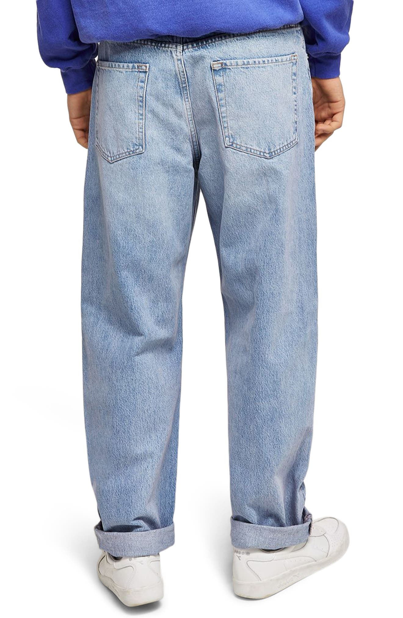 Baggy Fit Jeans,                             Alternate thumbnail 2, color,                             Blue