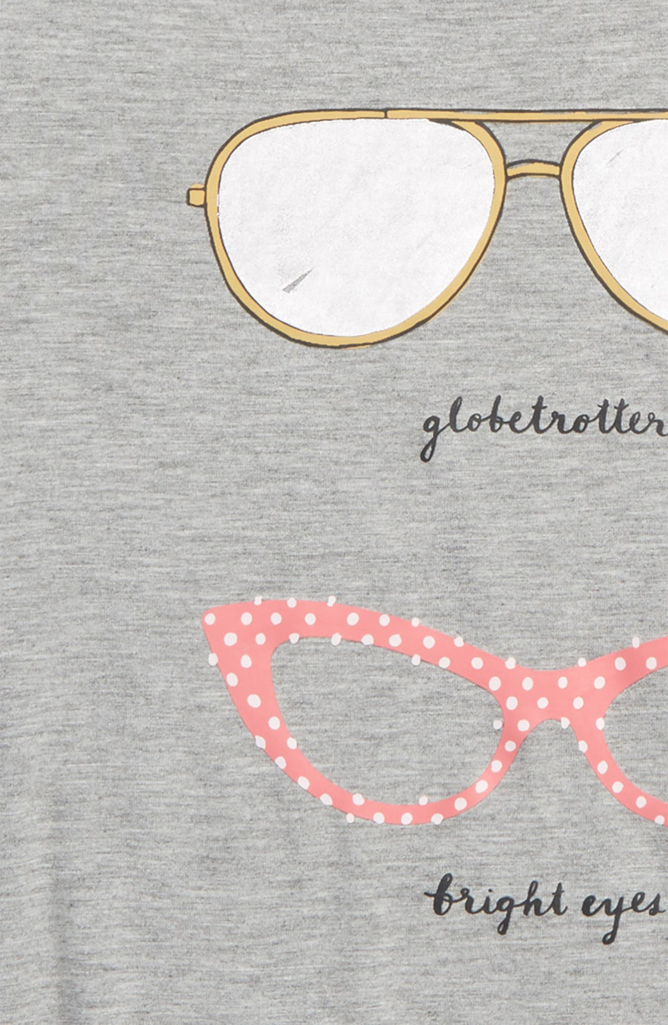 sunglasses graphic tee,                             Alternate thumbnail 2, color,                             Heather Grey