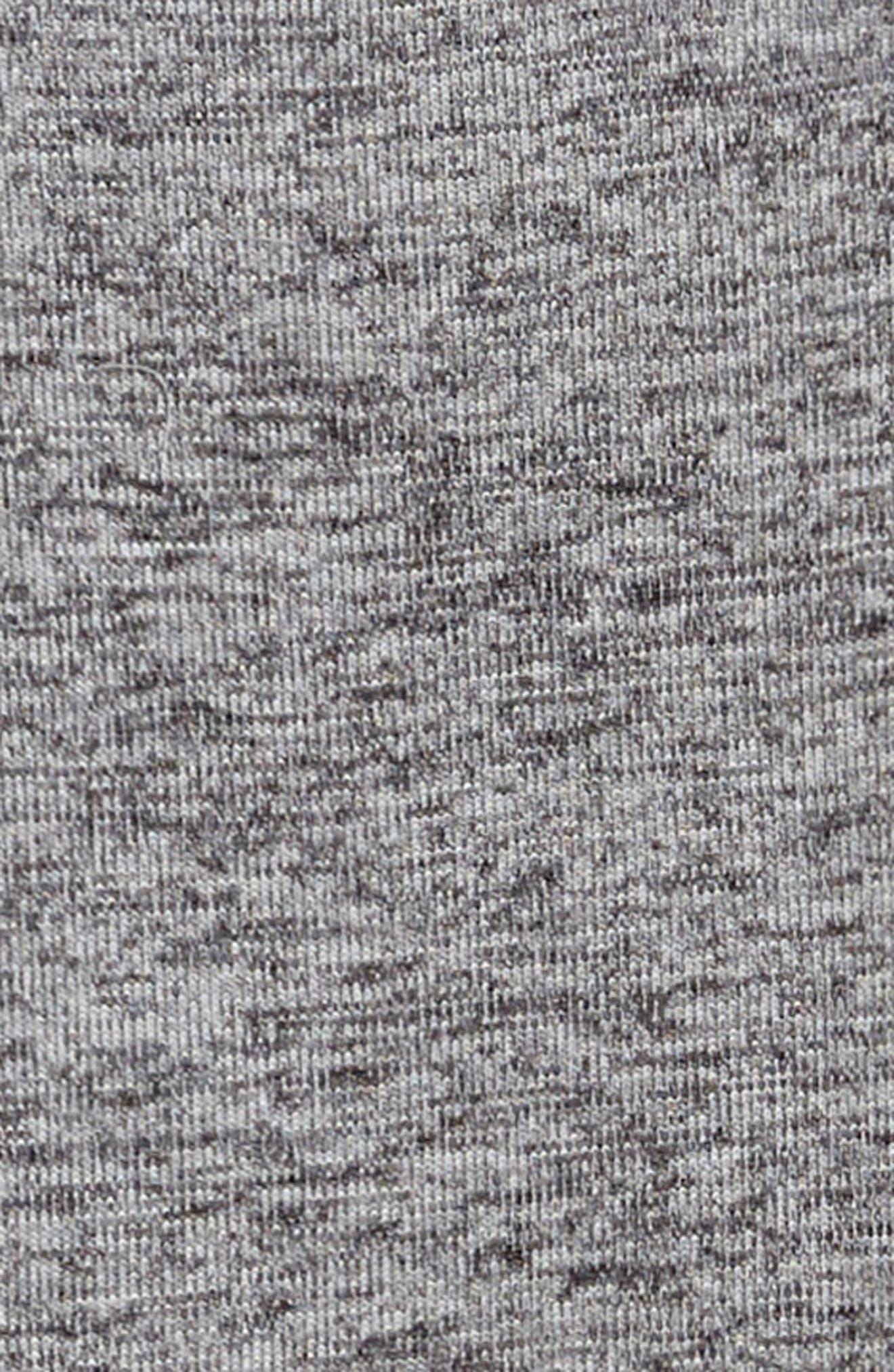 Knot Back Knit Dress,                             Alternate thumbnail 3, color,                             Grey Medium Heather
