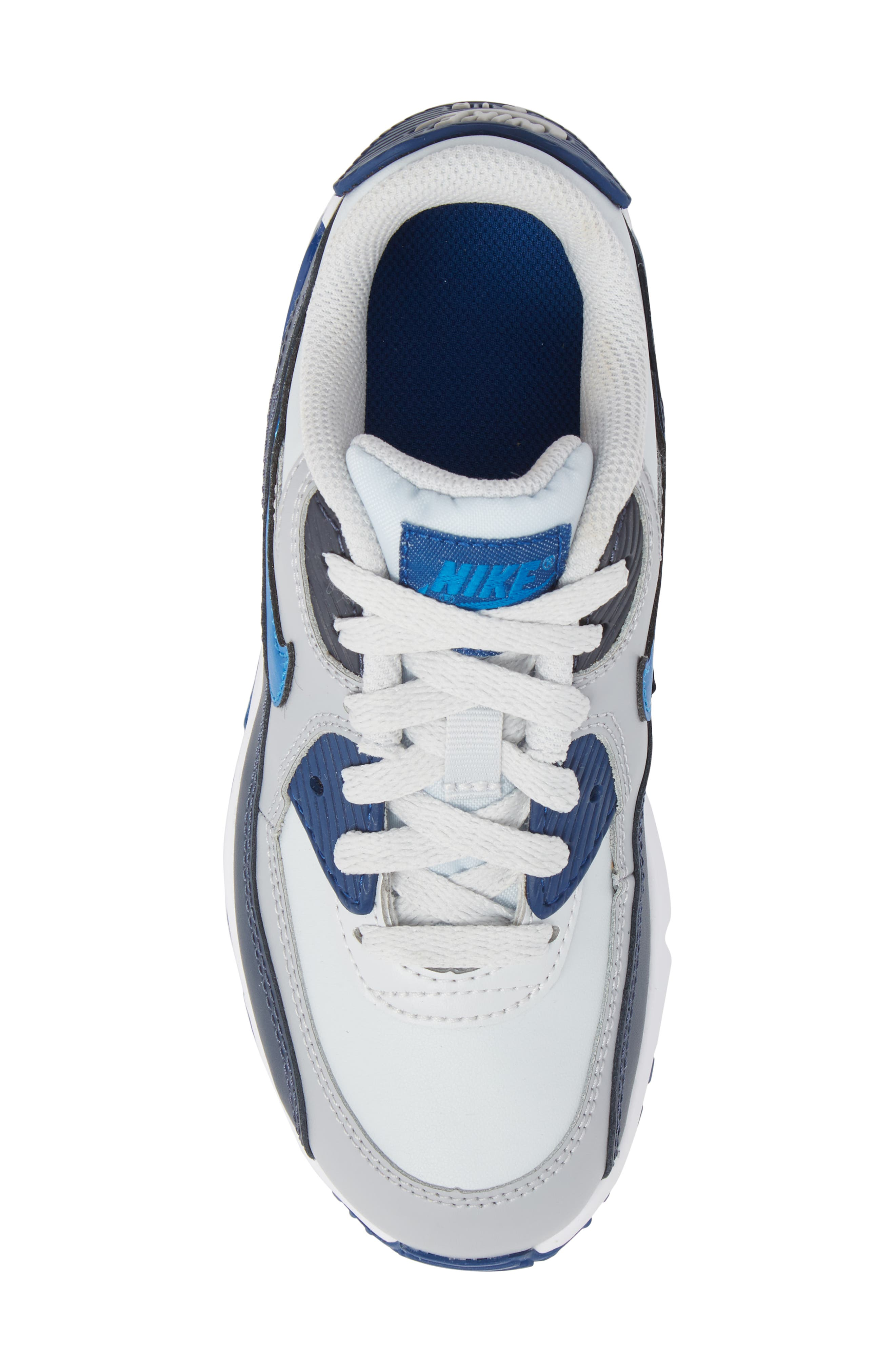 Air Max 90 Sneaker,                             Alternate thumbnail 5, color,                             Blue Nebula/ Wolf Grey