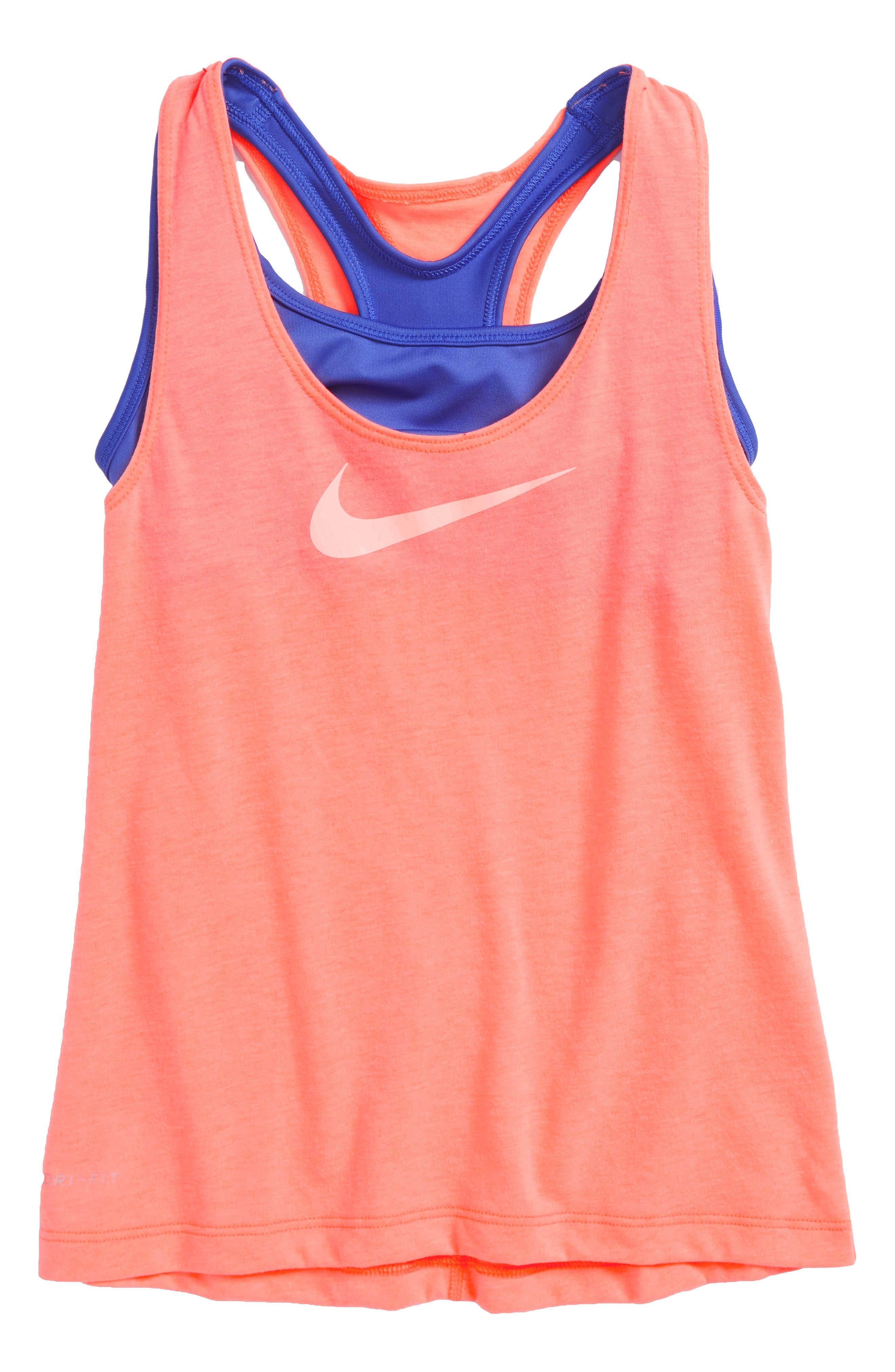 Nike Breathe Dri-FIT Tank with Bra (Big Girls)