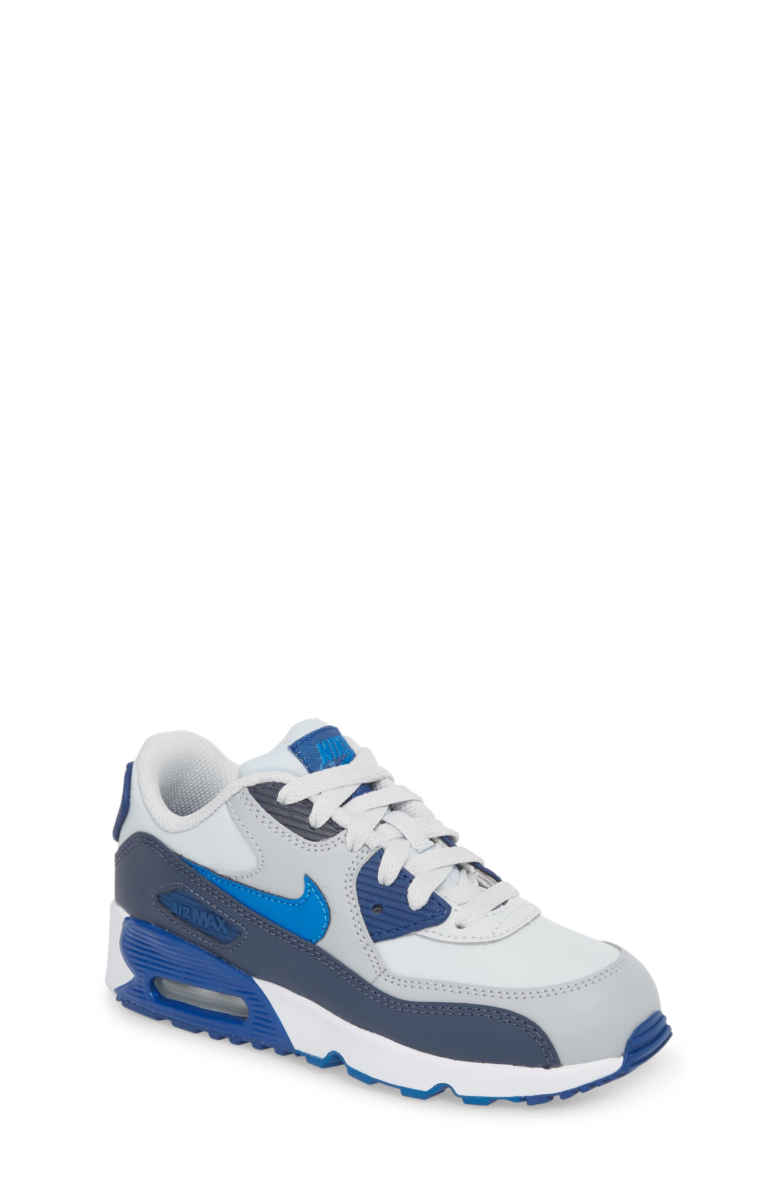 Air Max 90 Sneaker,                         Main,                         color, Blue Nebula/ Wolf Grey