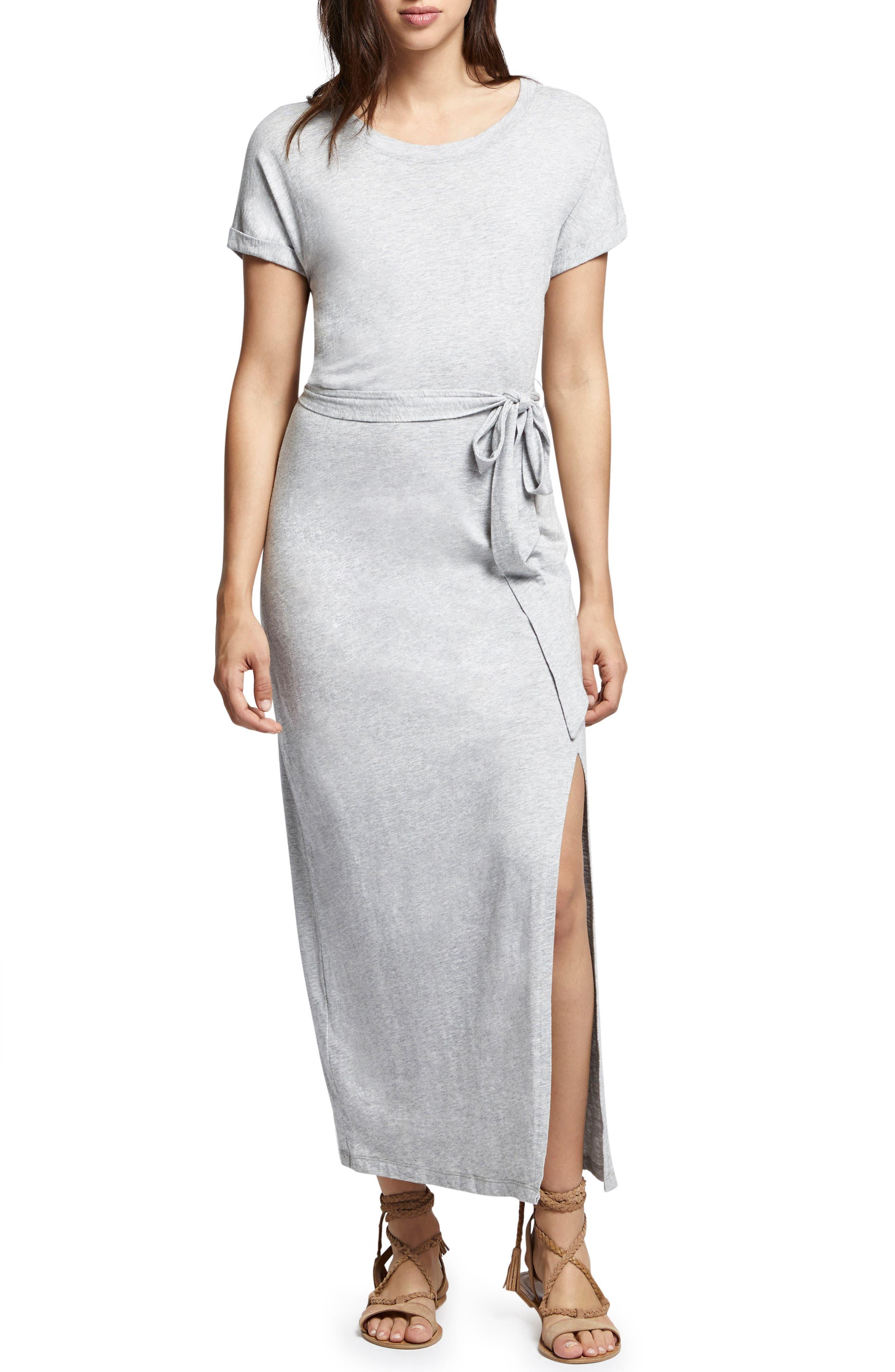 Isle Maxi Dress,                         Main,                         color, Heather Grey