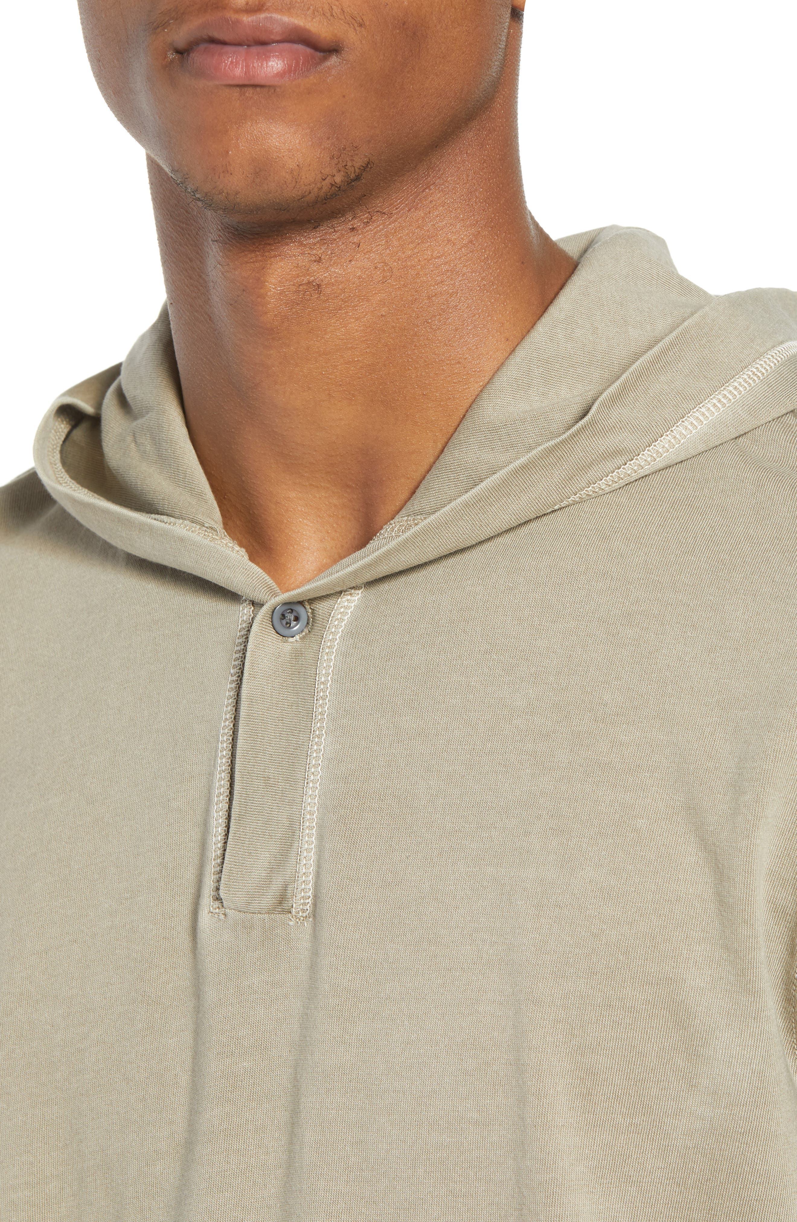 Sunfaded Jersey Hoodie,                             Alternate thumbnail 4, color,                             Tan Aluminum
