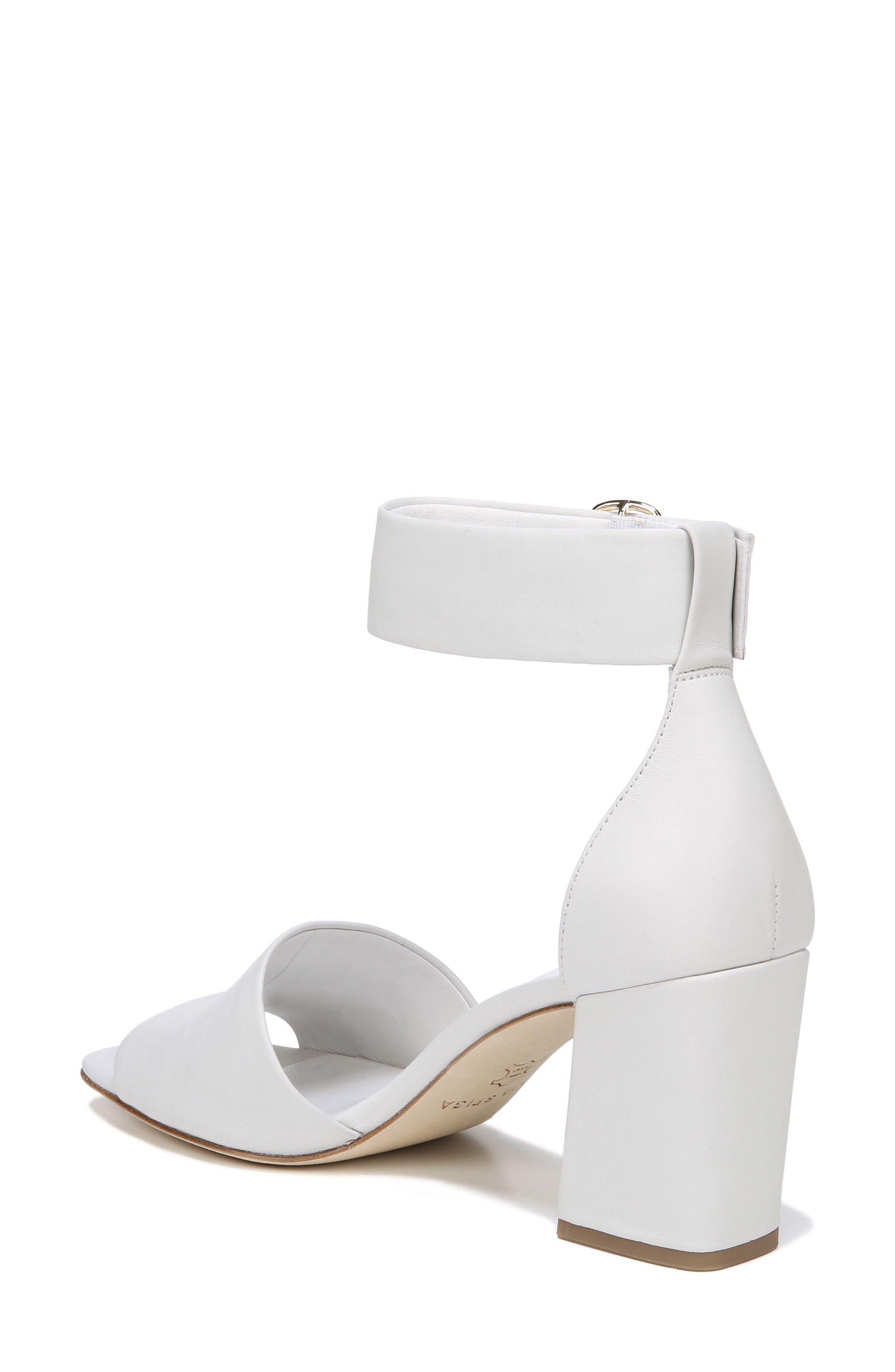 Evonne Ankle Strap Sandal,                             Alternate thumbnail 2, color,                             Porcelain Leather