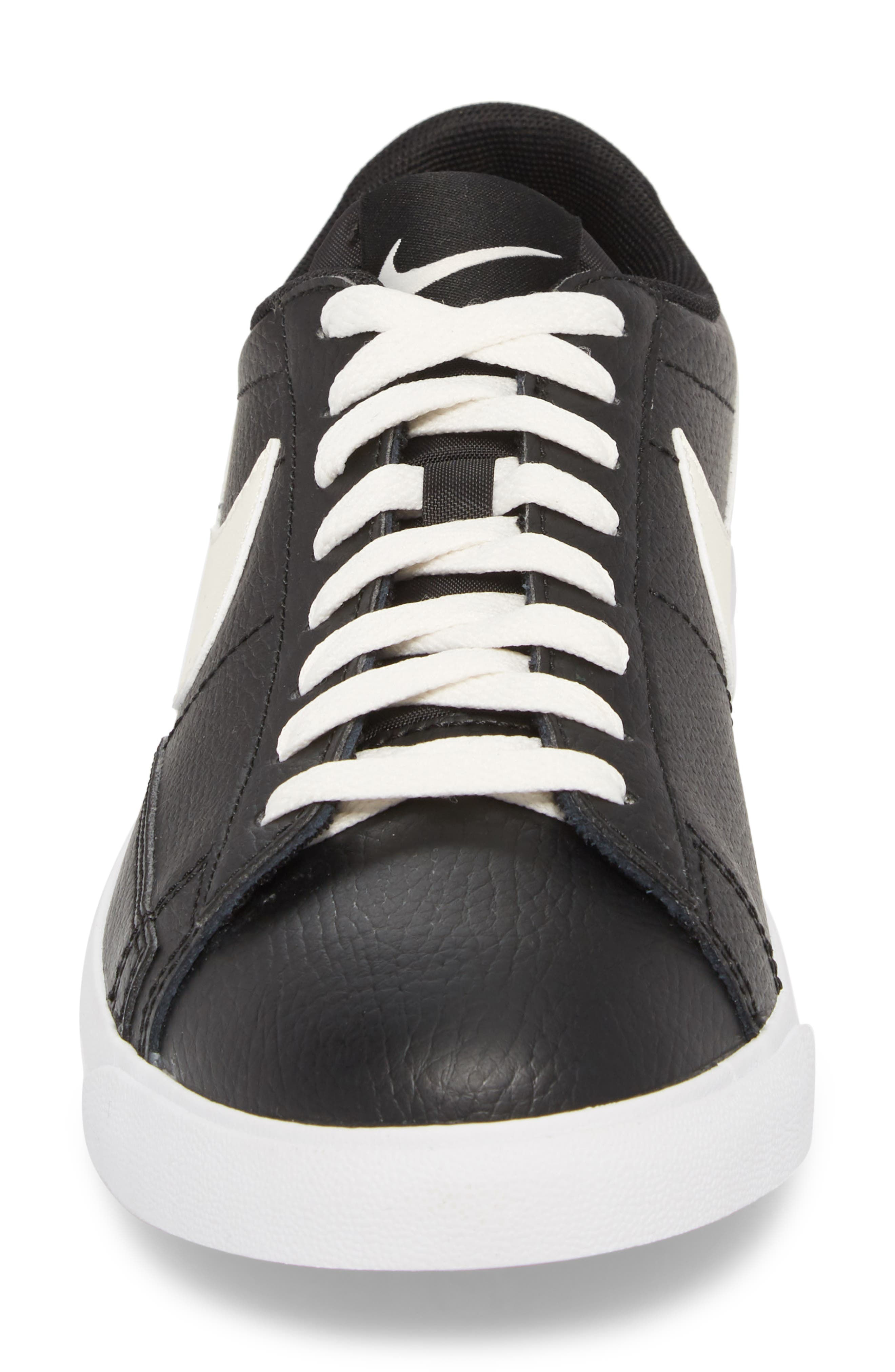 Blazer Low Leather Sneaker,                             Alternate thumbnail 4, color,                             Black/ Sail