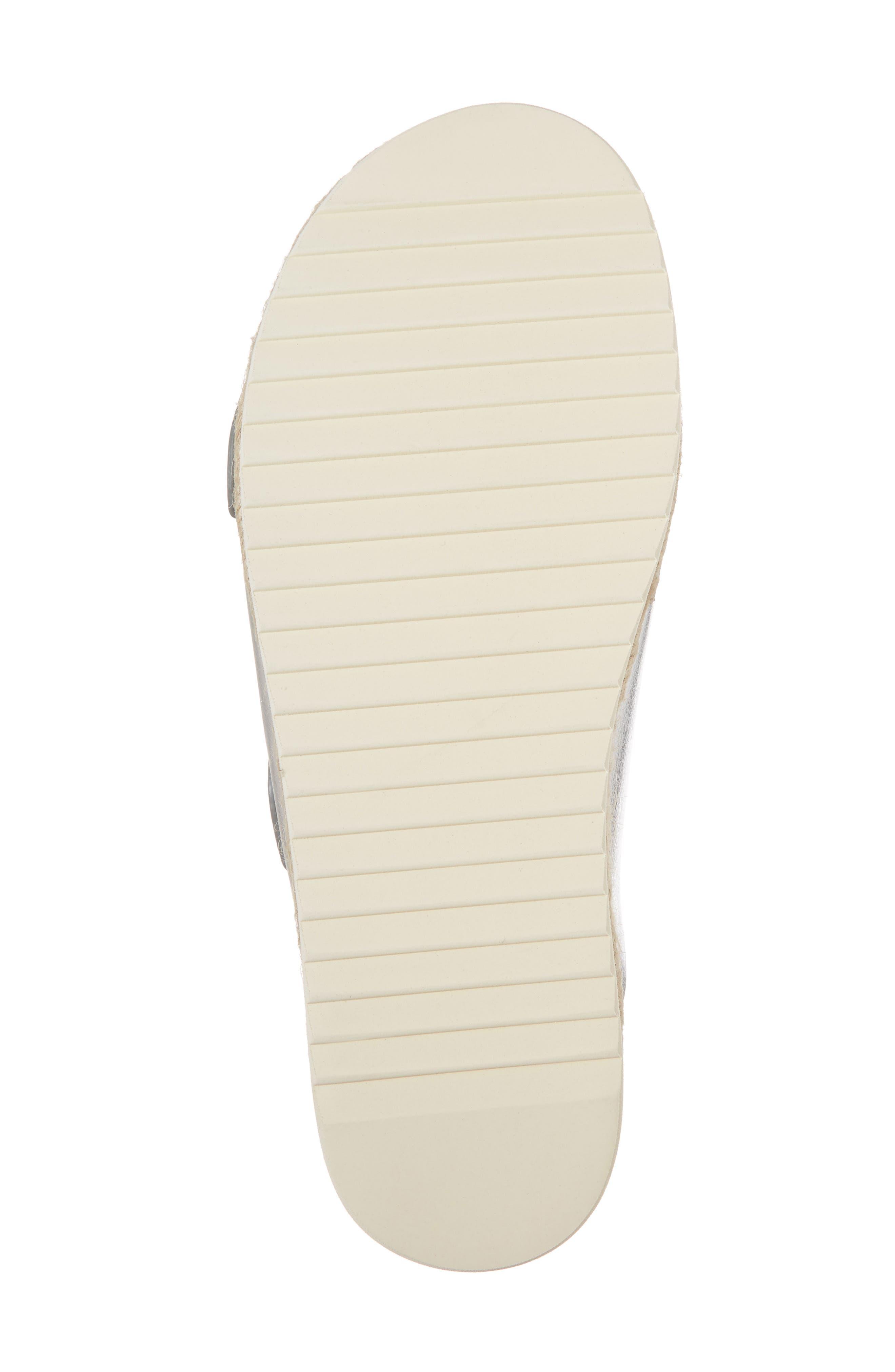 Jojo Two-Buckle Slide Sandal,                             Alternate thumbnail 6, color,                             Silver