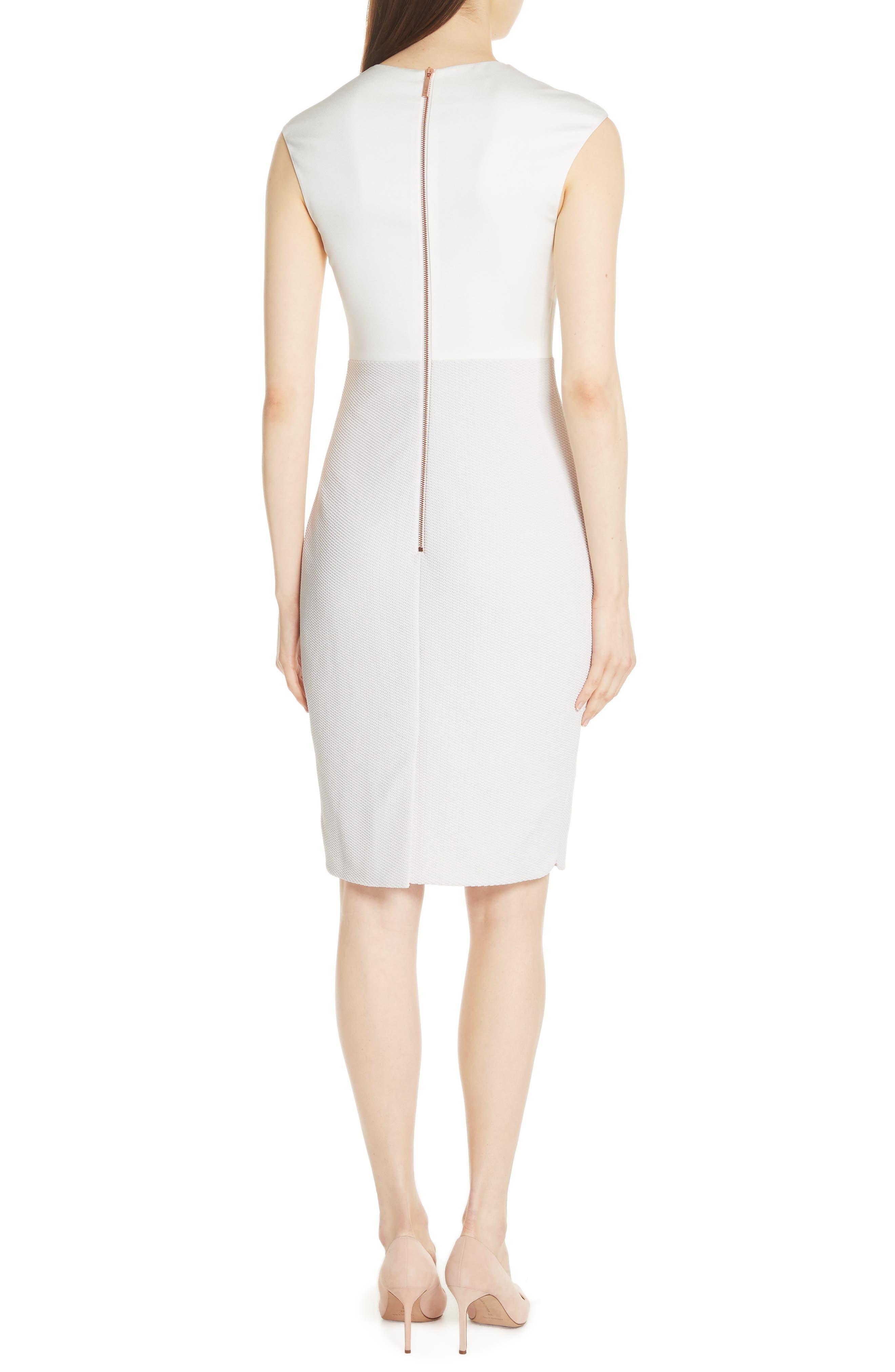 Mock Two-Piece Pencil Dress,                             Alternate thumbnail 2, color,                             Grey