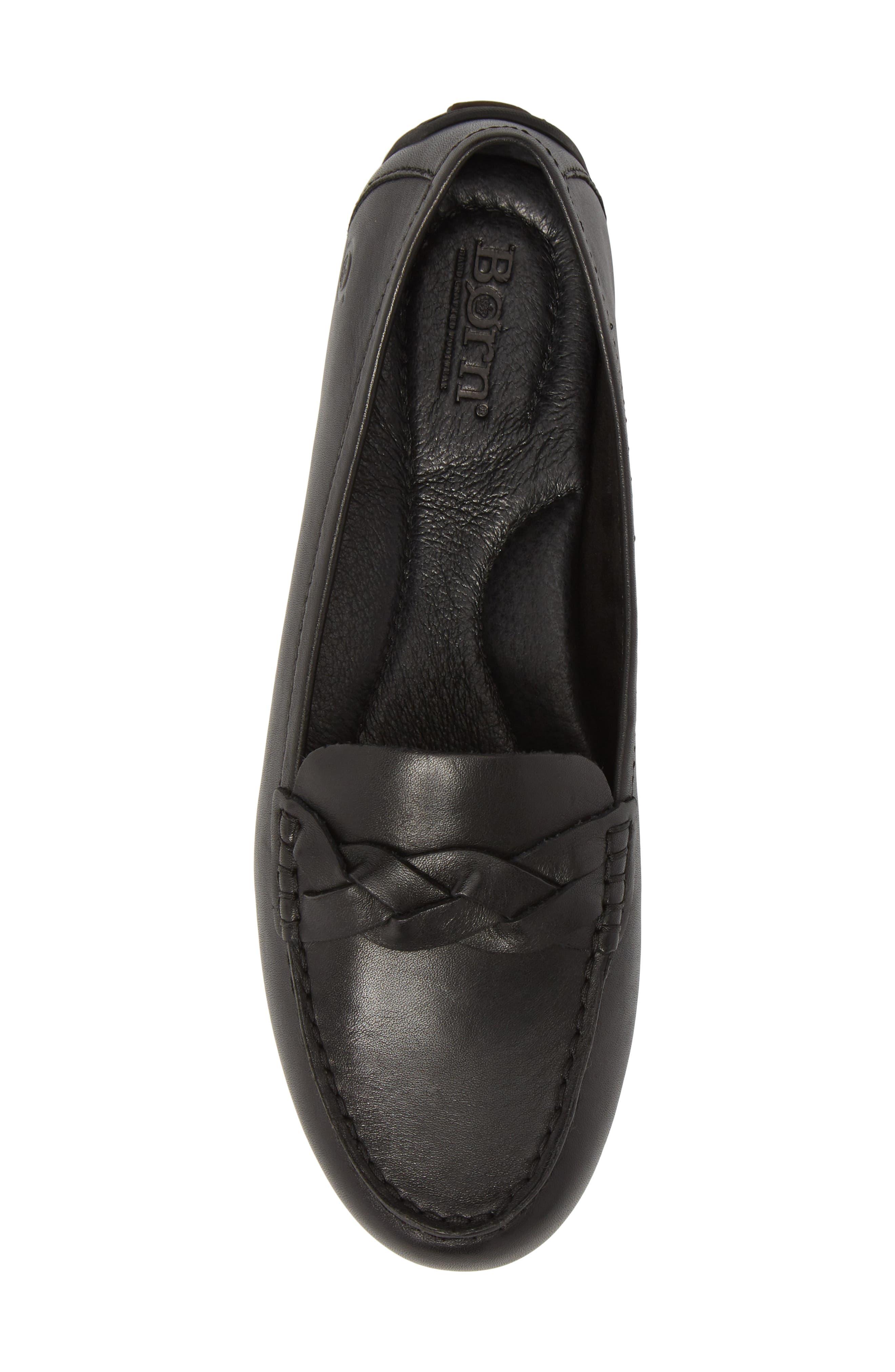 Kasa Loafer,                             Alternate thumbnail 5, color,                             Black Leather