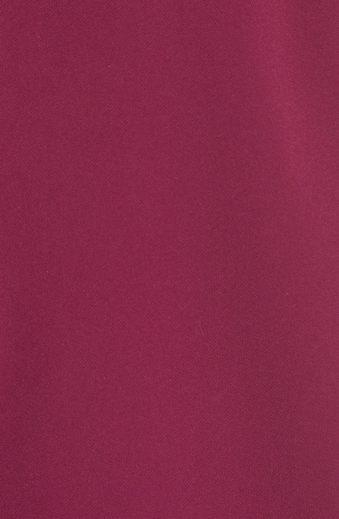 Scalloped A-Line Dress,                             Alternate thumbnail 5, color,                             Dusky Pink