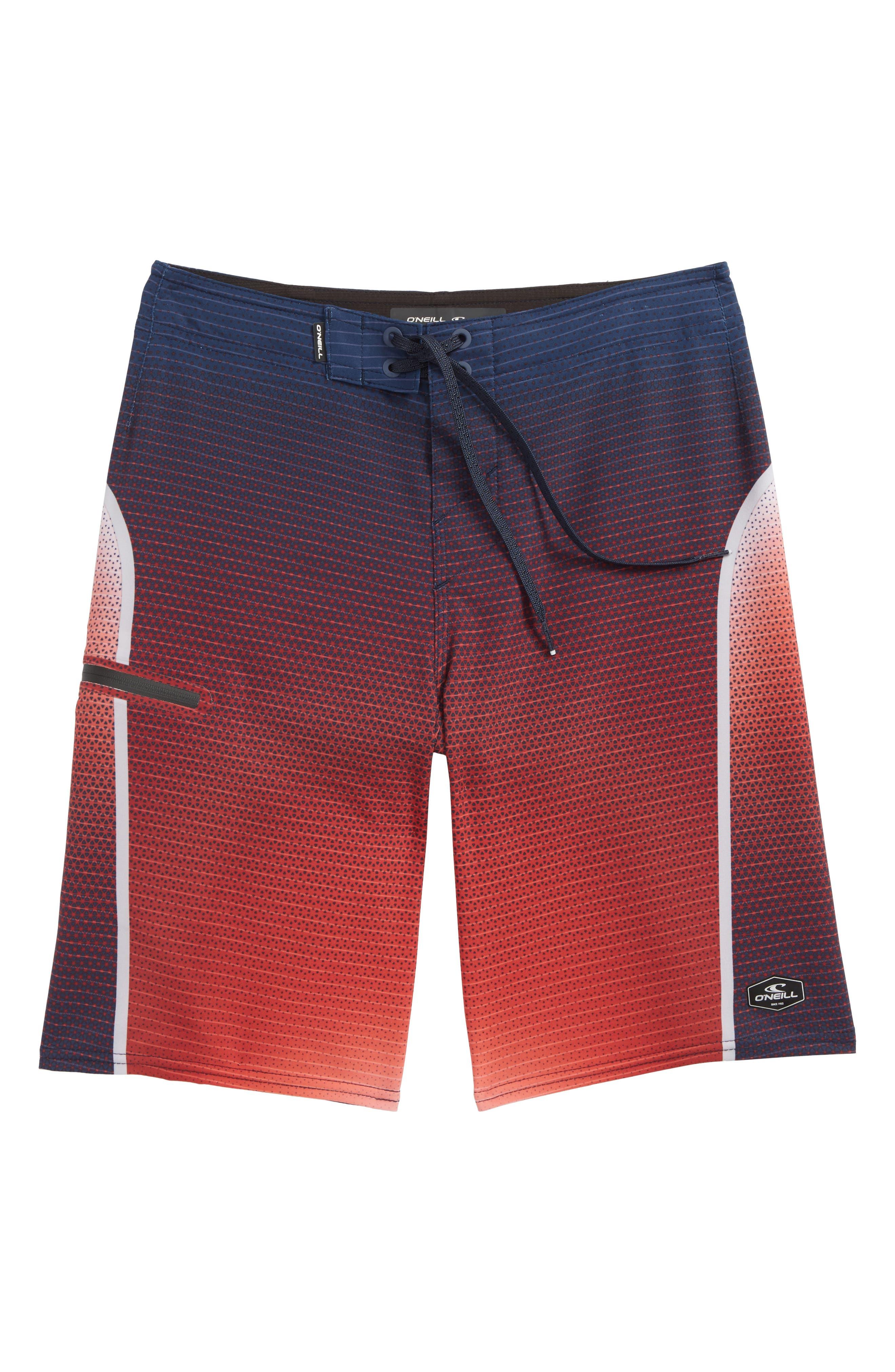 Hyperfreak Prizma Board Shorts,                             Main thumbnail 1, color,                             Red