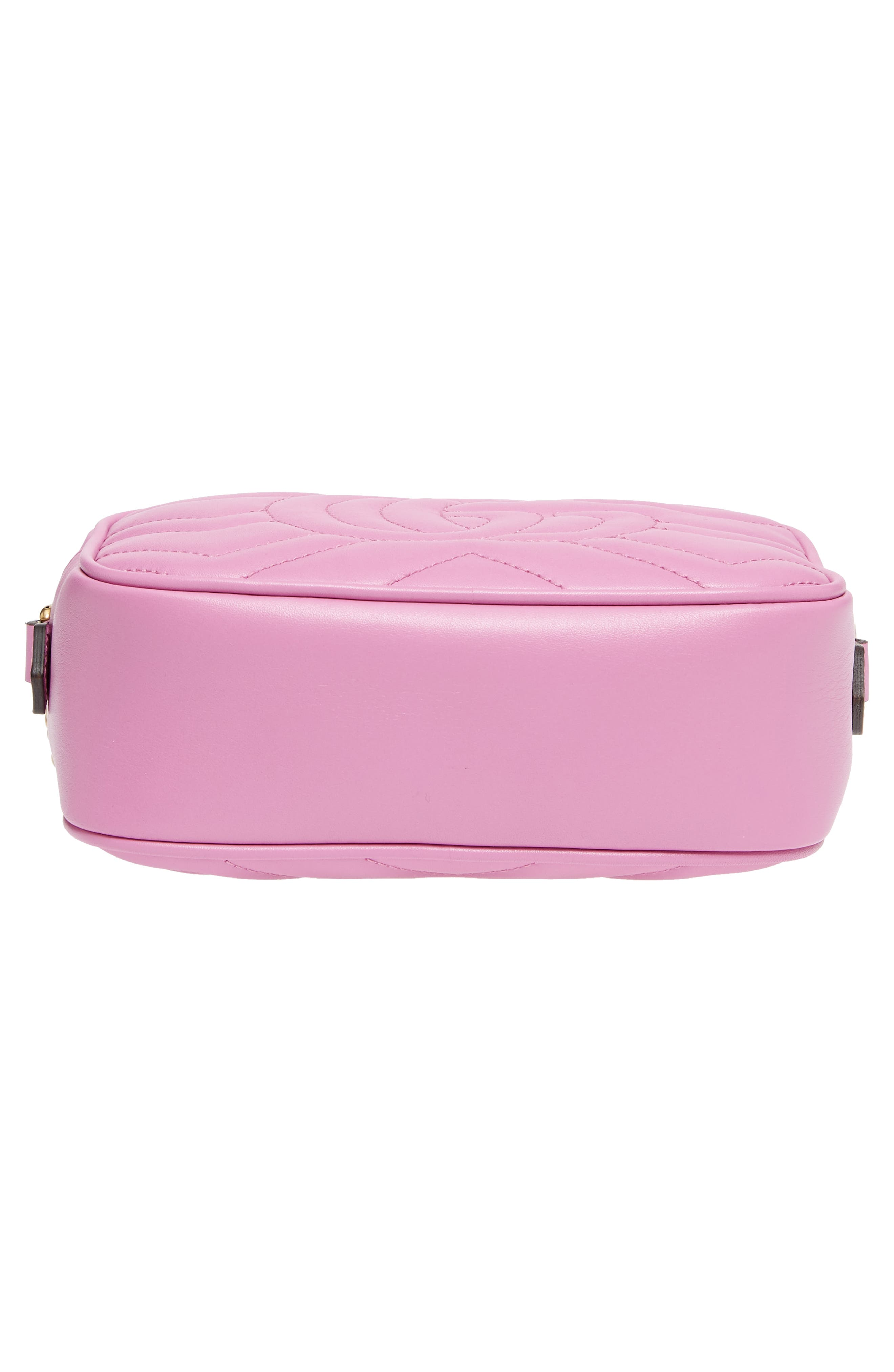 GG Marmont 2.0 Matelassé Leather Camera Bag,                             Alternate thumbnail 6, color,                             Candy Mous