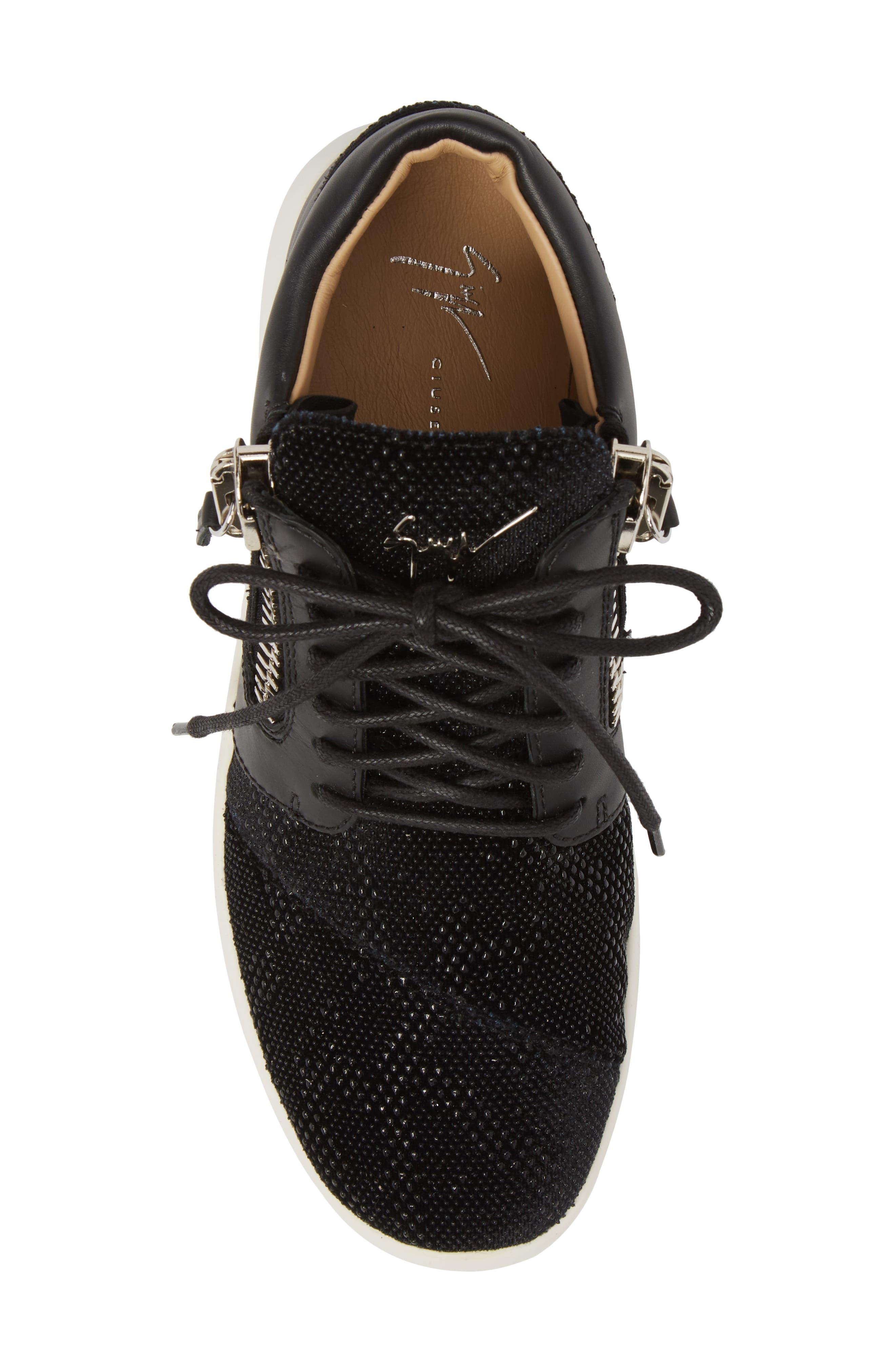 Mid Top Sneaker,                             Alternate thumbnail 5, color,                             Black