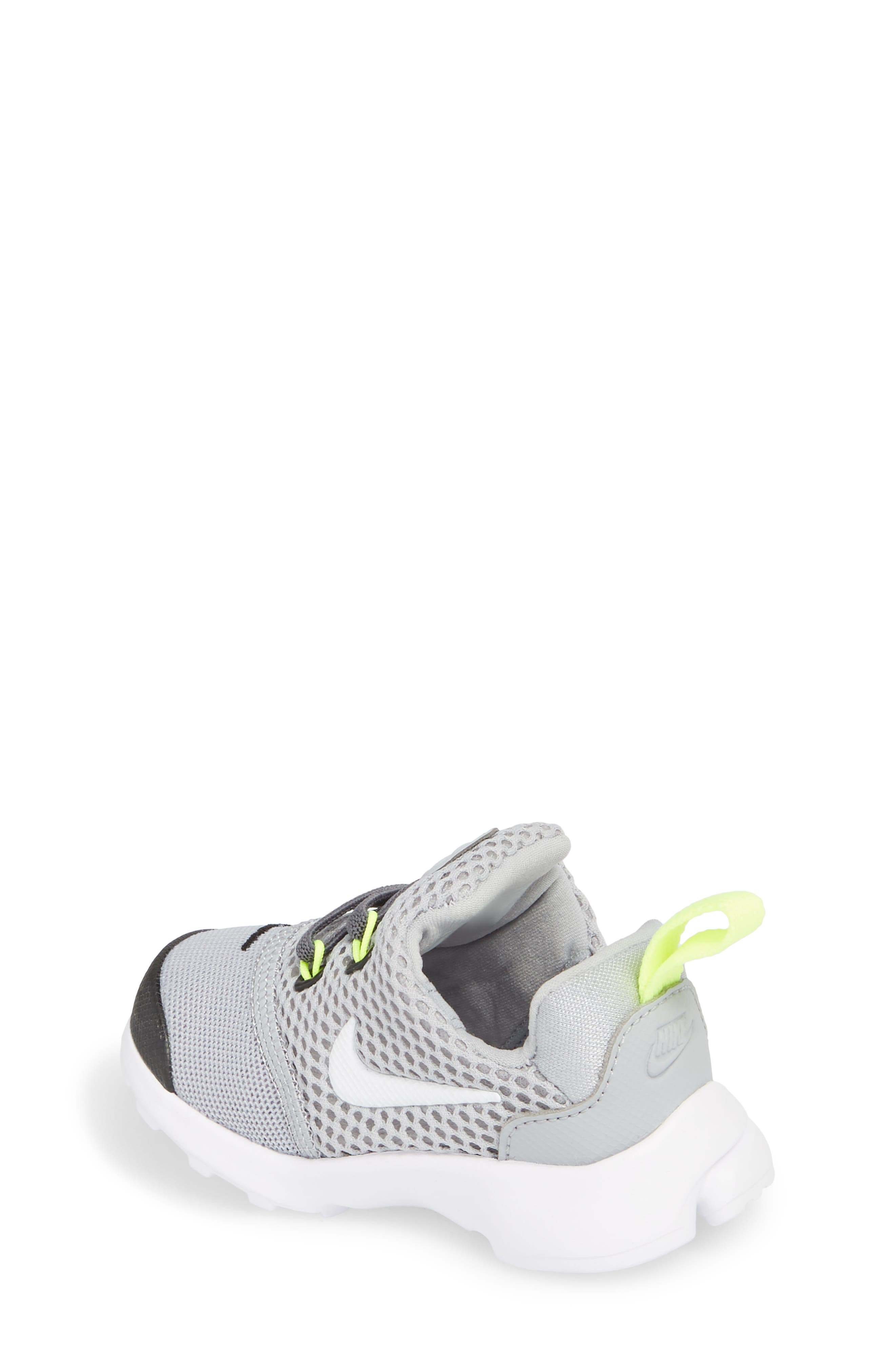Presto Fly GS Sneaker,                             Alternate thumbnail 2, color,                             Grey/ White/ Black/ Volt