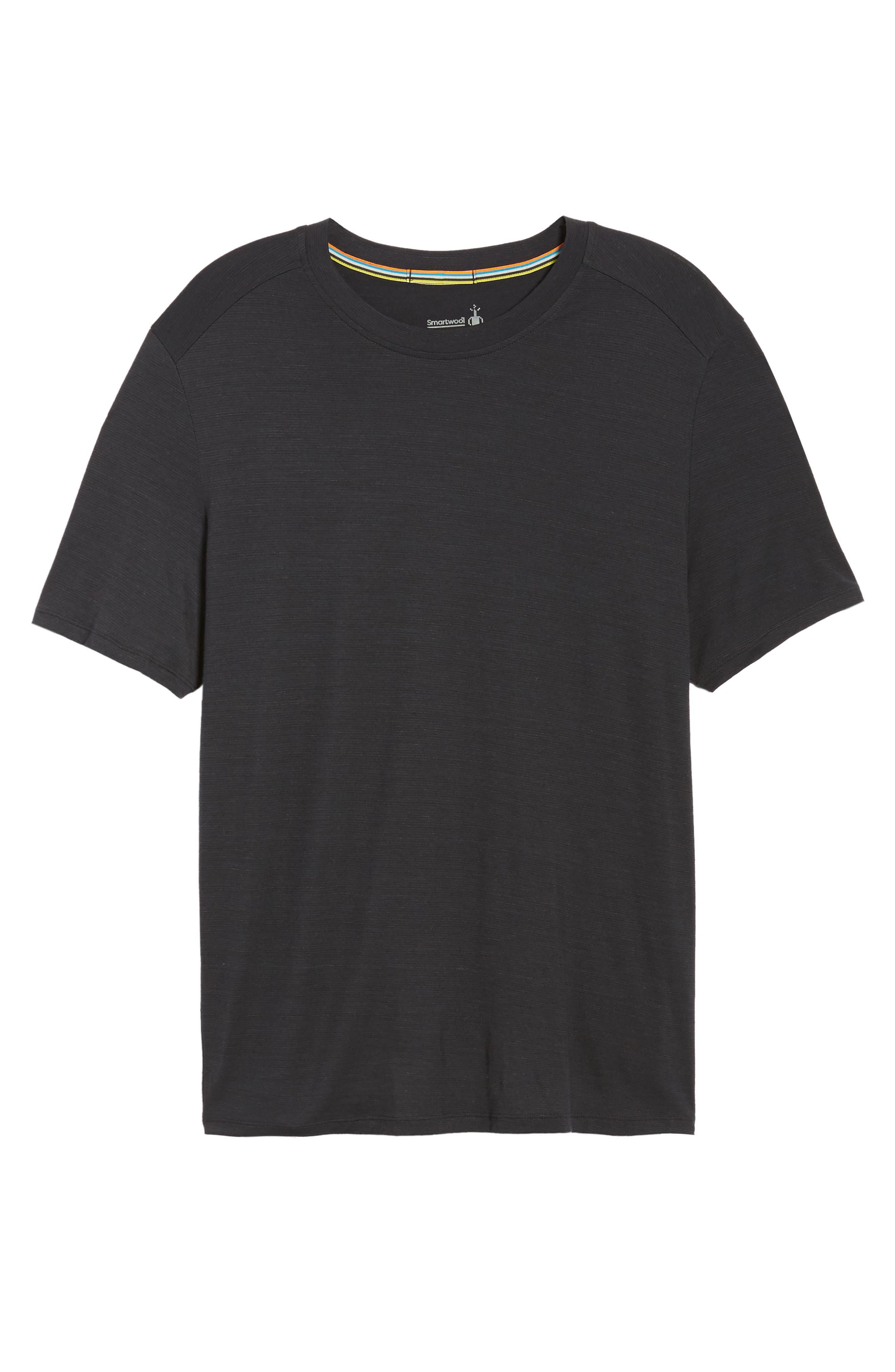 Merino 150 Wool Blend T-Shirt,                             Alternate thumbnail 6, color,                             Charcoal