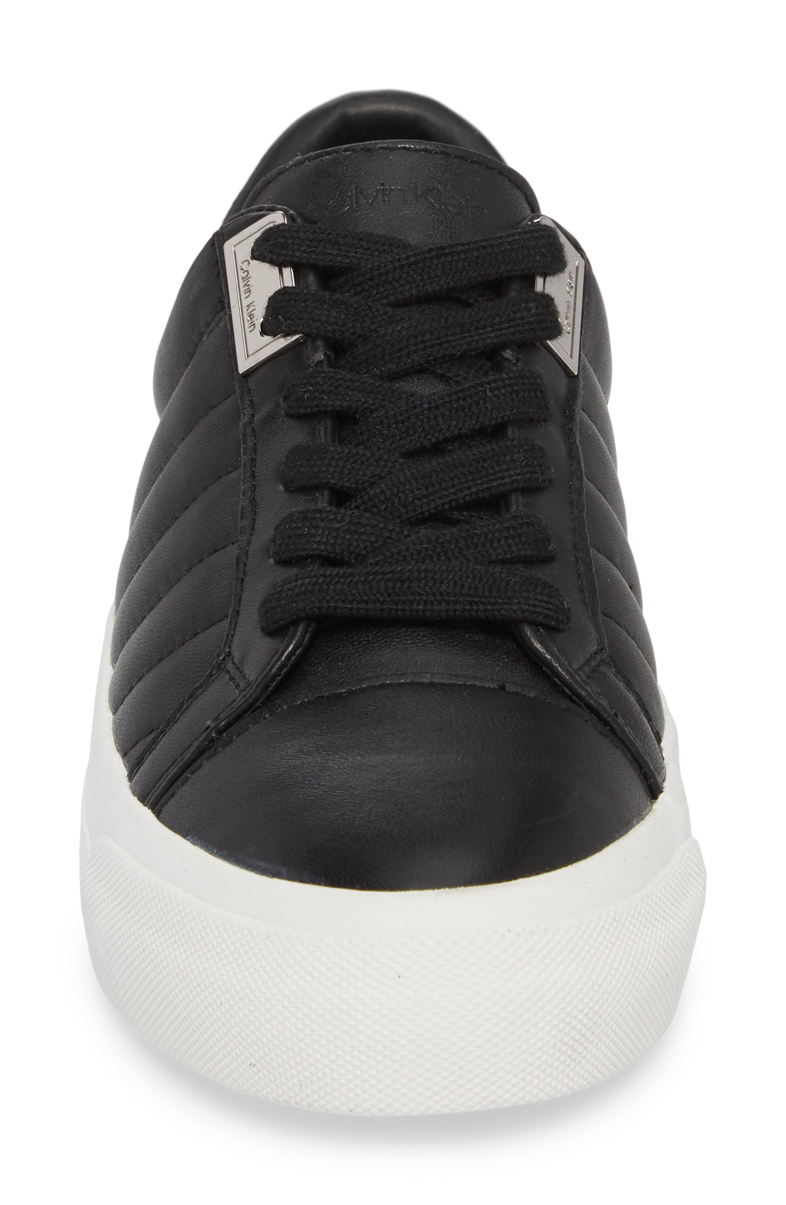 Vance Sneaker,                             Alternate thumbnail 4, color,                             Black Leather