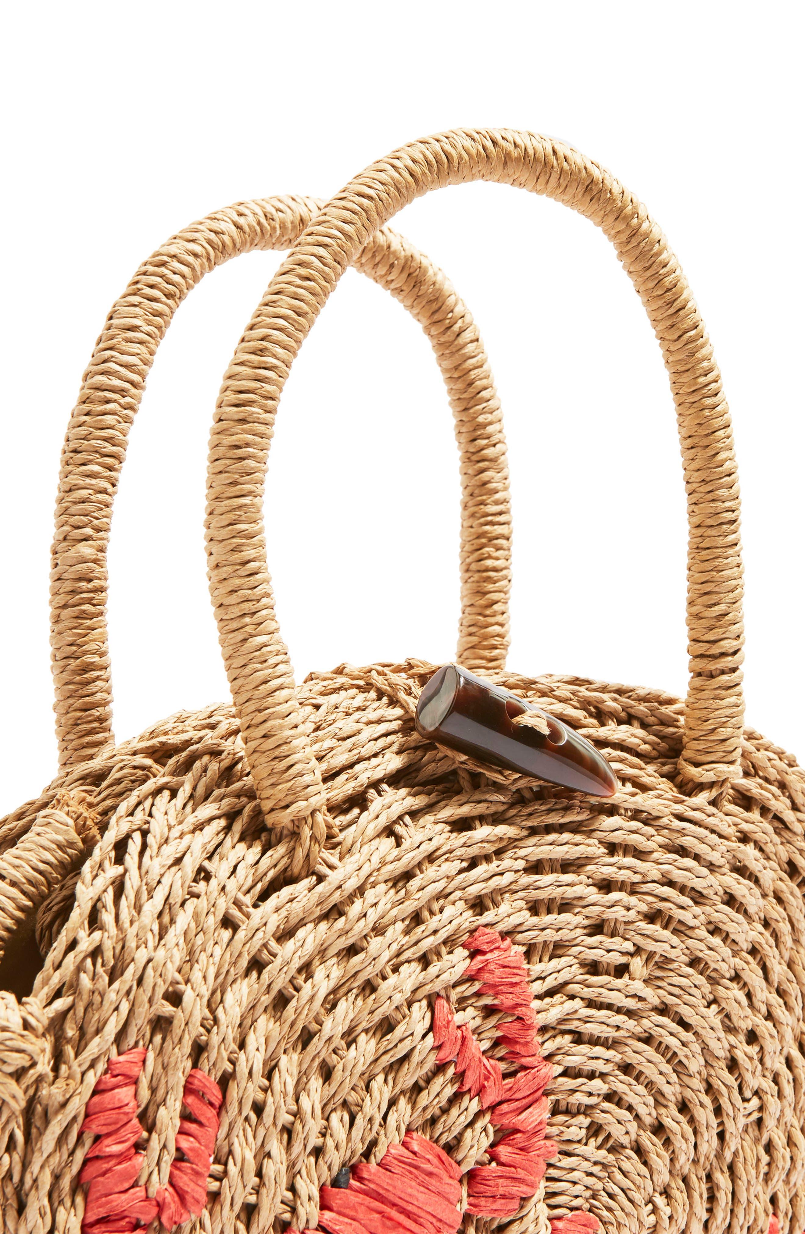 Alternate Image 4  - Topshop Crab Straw Mini Tote Bag