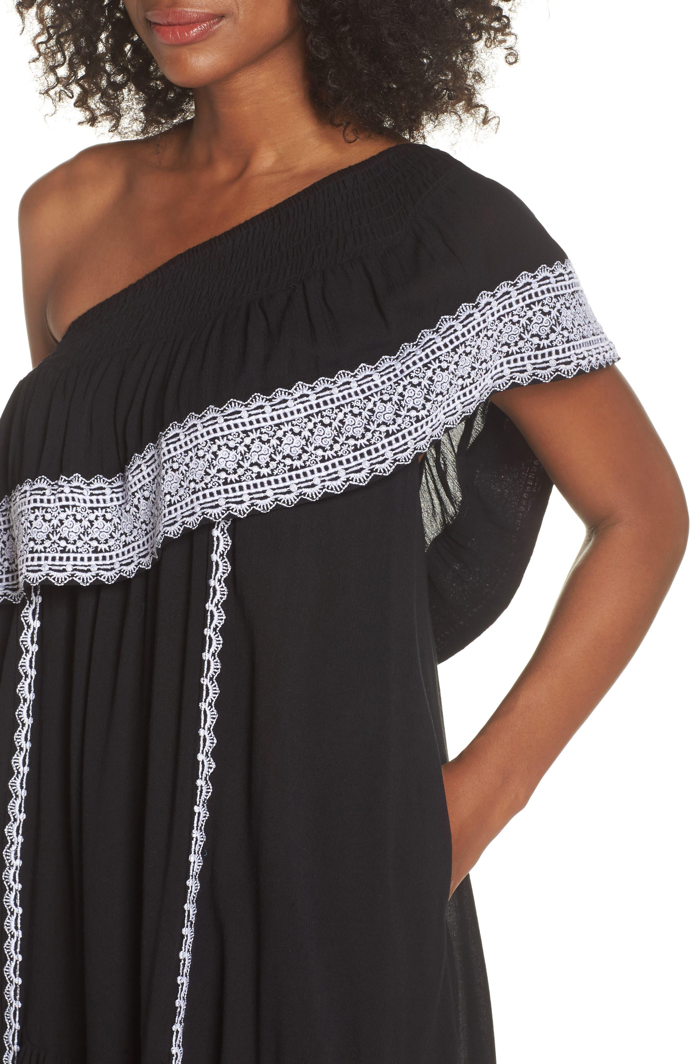 Alternate Image 4  - Muche et Muchette Gavin One-Shoulder Cover-Up Dress