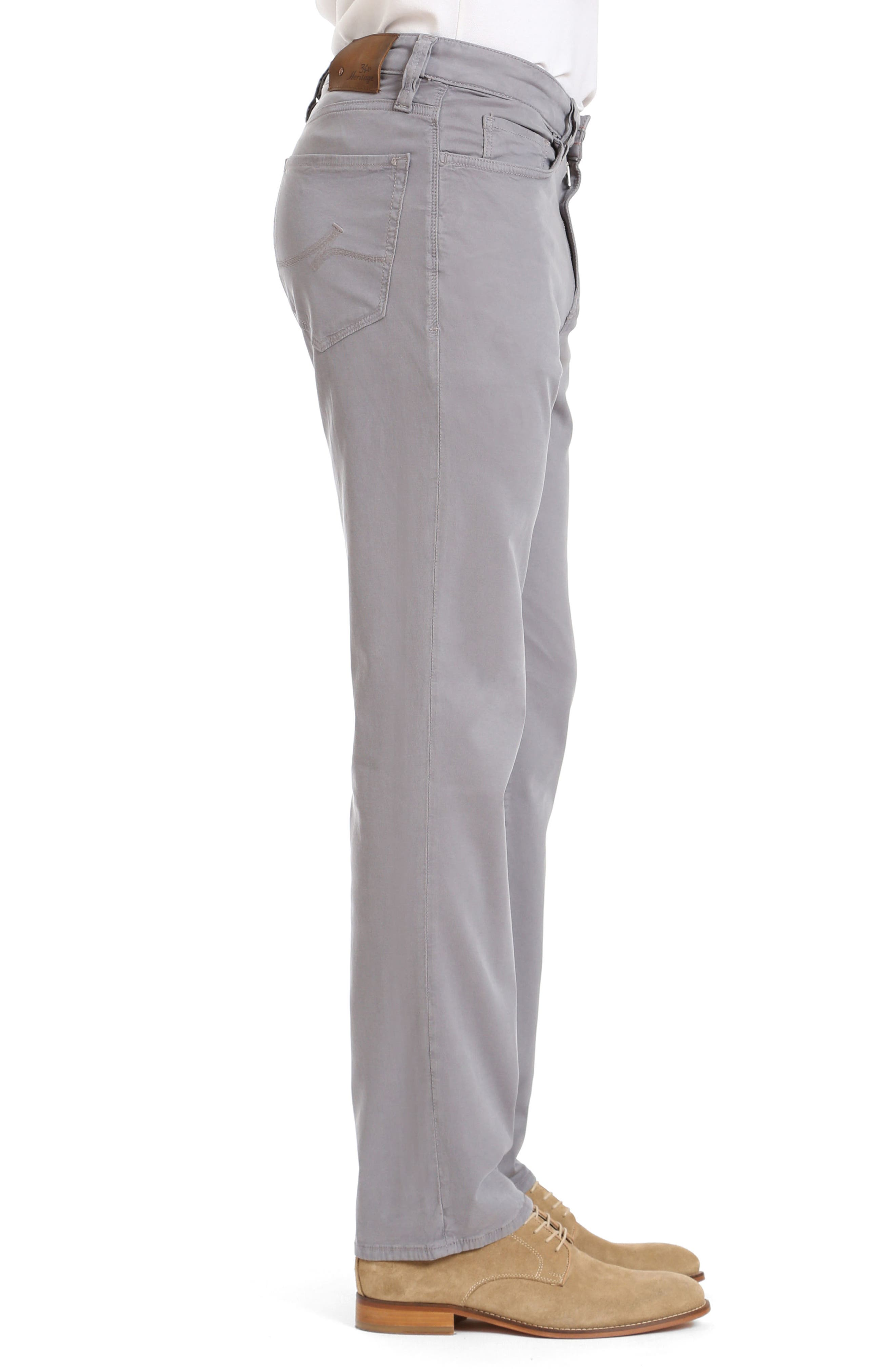 Charisma Relaxed Fit Twill Pants,                             Alternate thumbnail 3, color,                             Grey Fine Twill