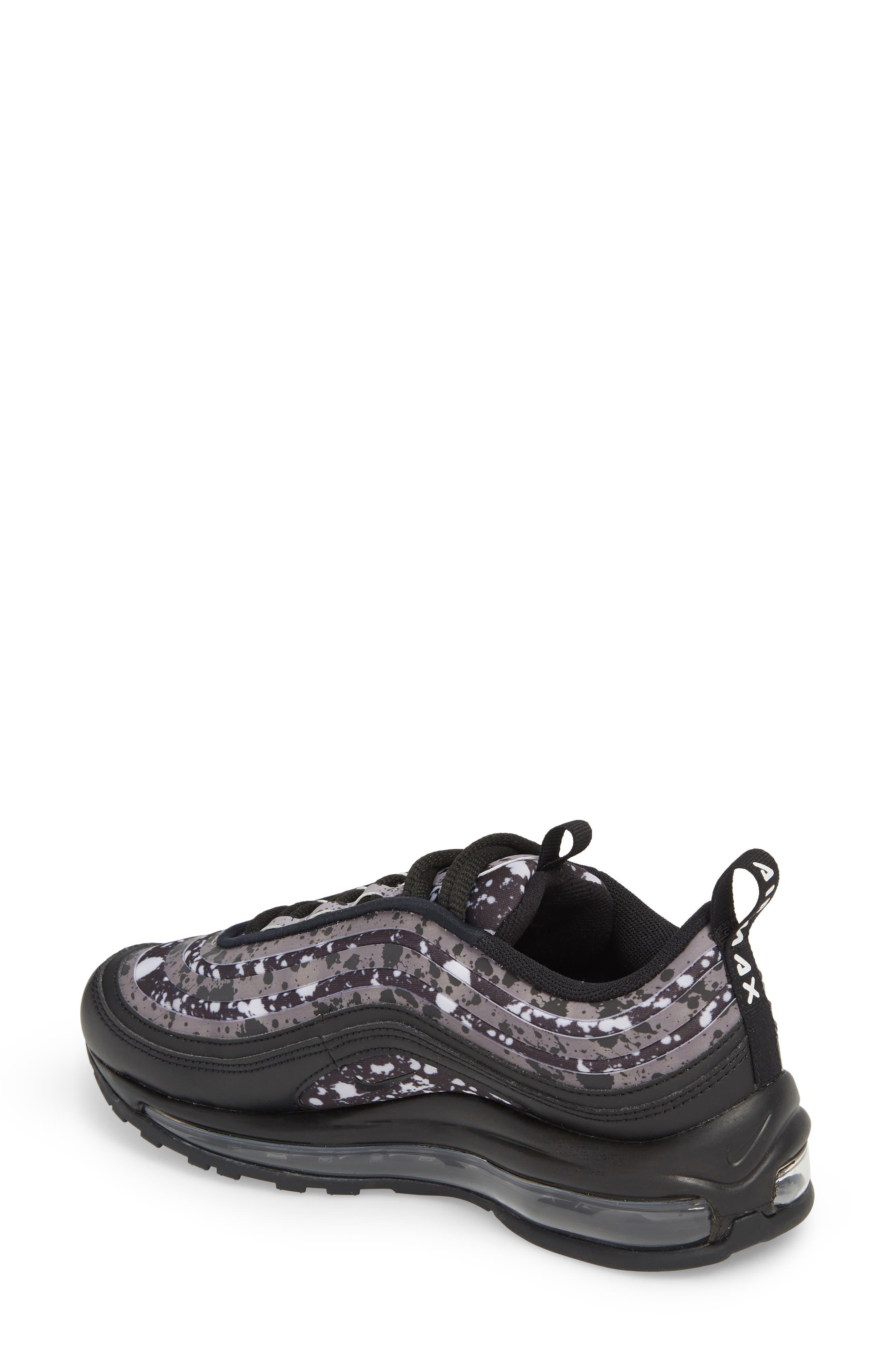 Air Max 97 Ultra '17 Premium Sneaker,                             Alternate thumbnail 2, color,                             Black/ Black-Vast Grey