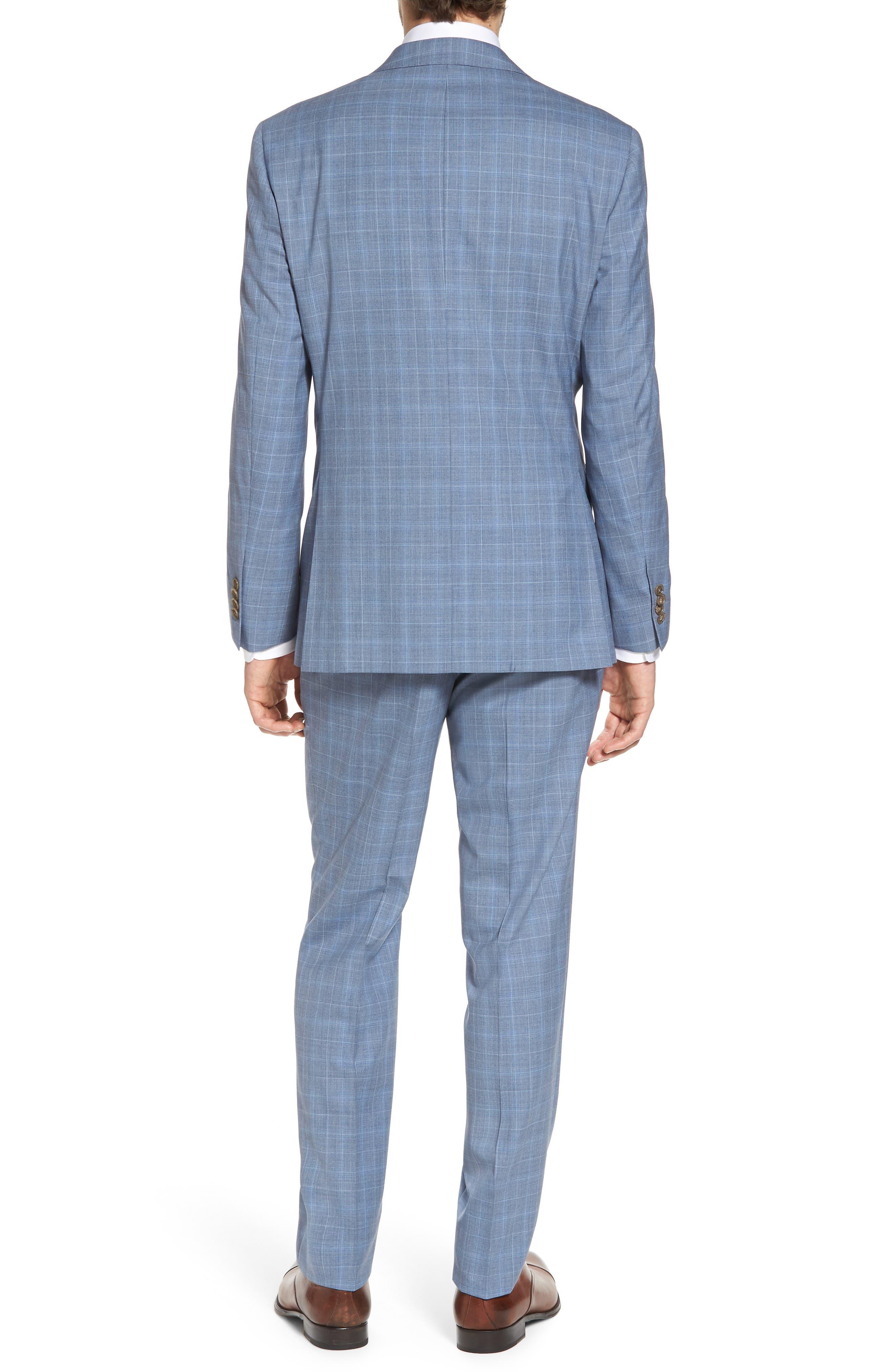 Ryan Classic Fit Plaid Wool Suit,                             Alternate thumbnail 2, color,                             Blue