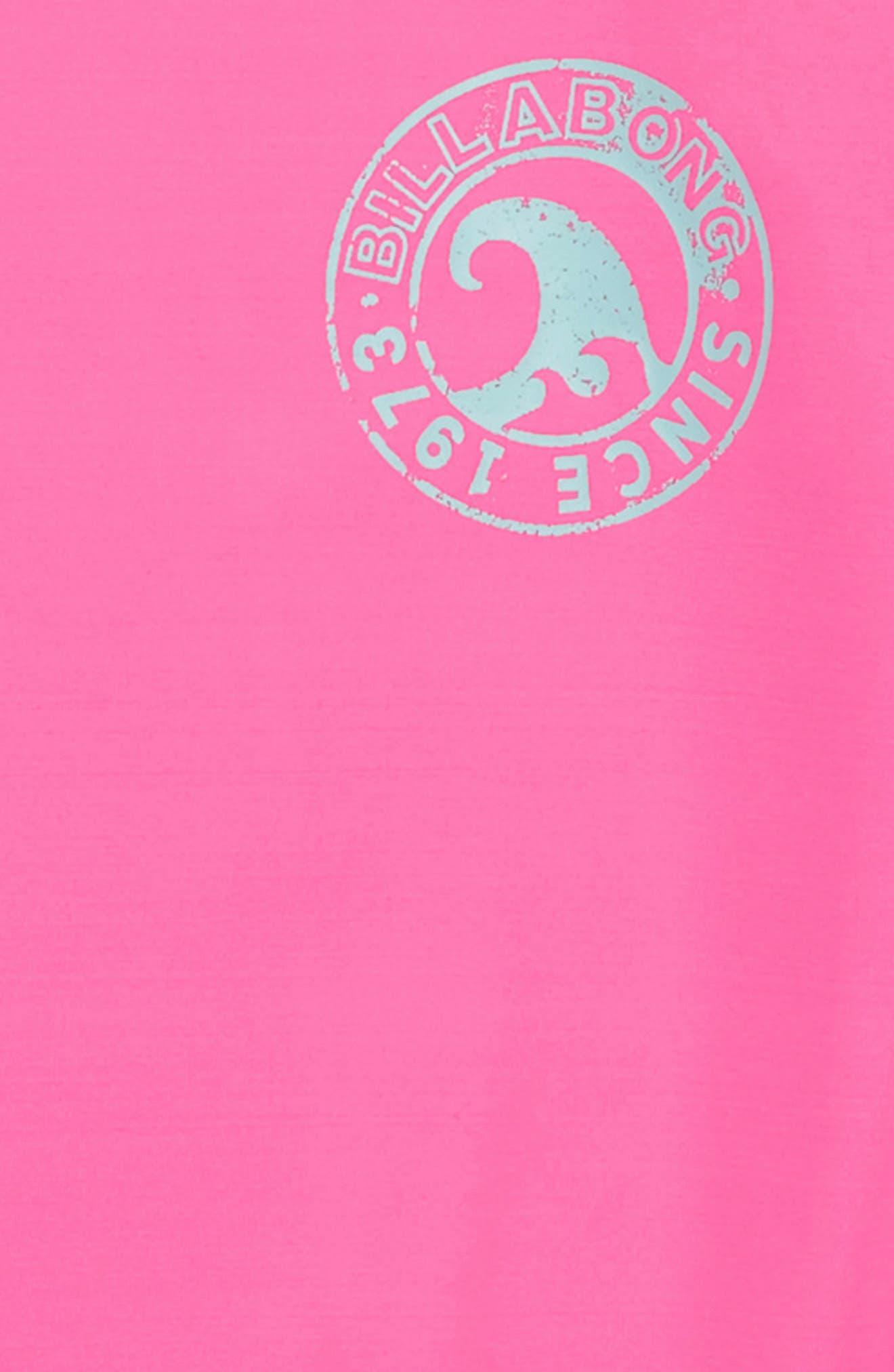 Sol Searcher Long Sleeve Rashguard,                             Alternate thumbnail 2, color,                             Tahiti Pink