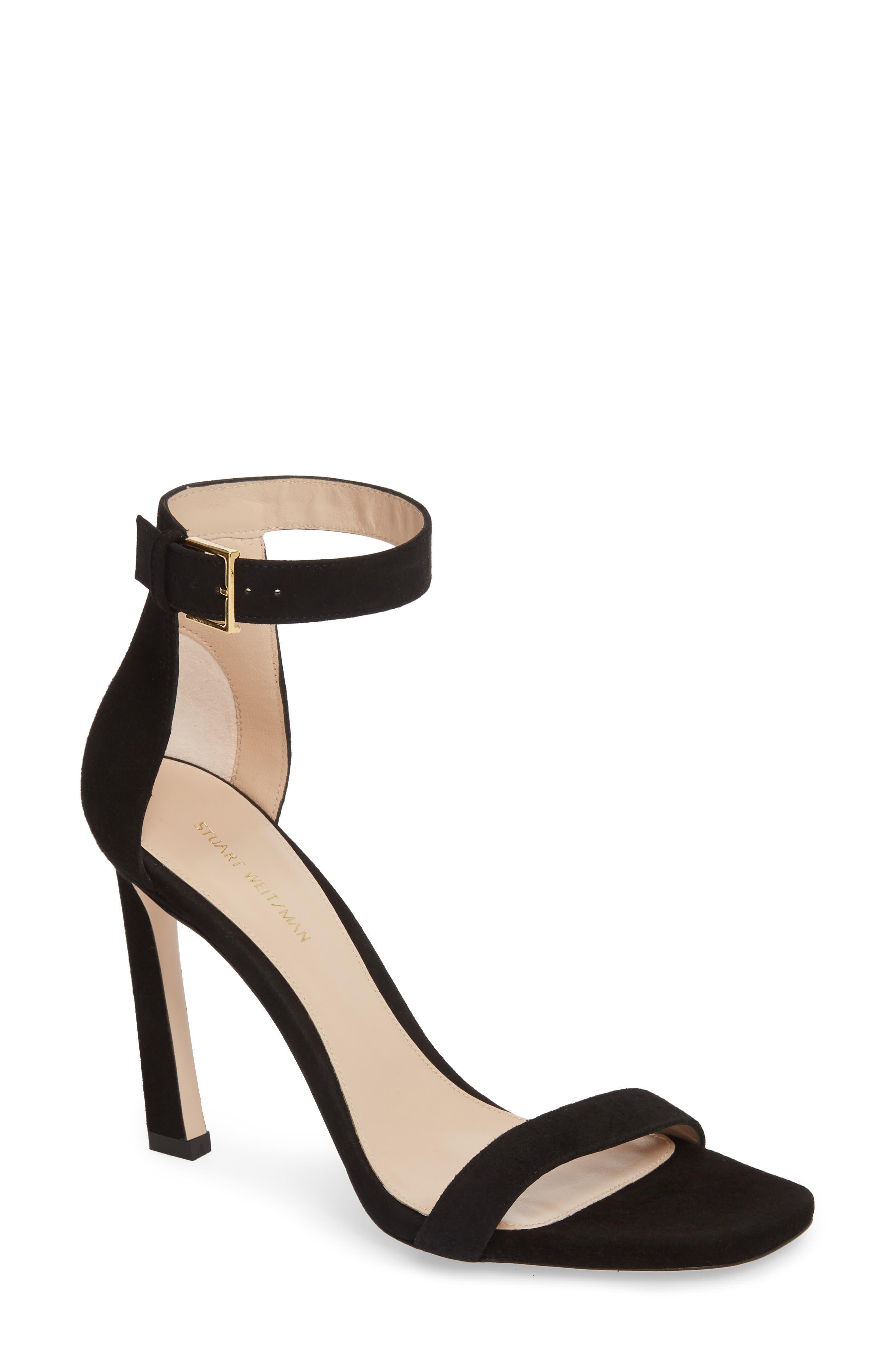100SQUARENUDIST Sandal,                         Main,                         color, Black Seda
