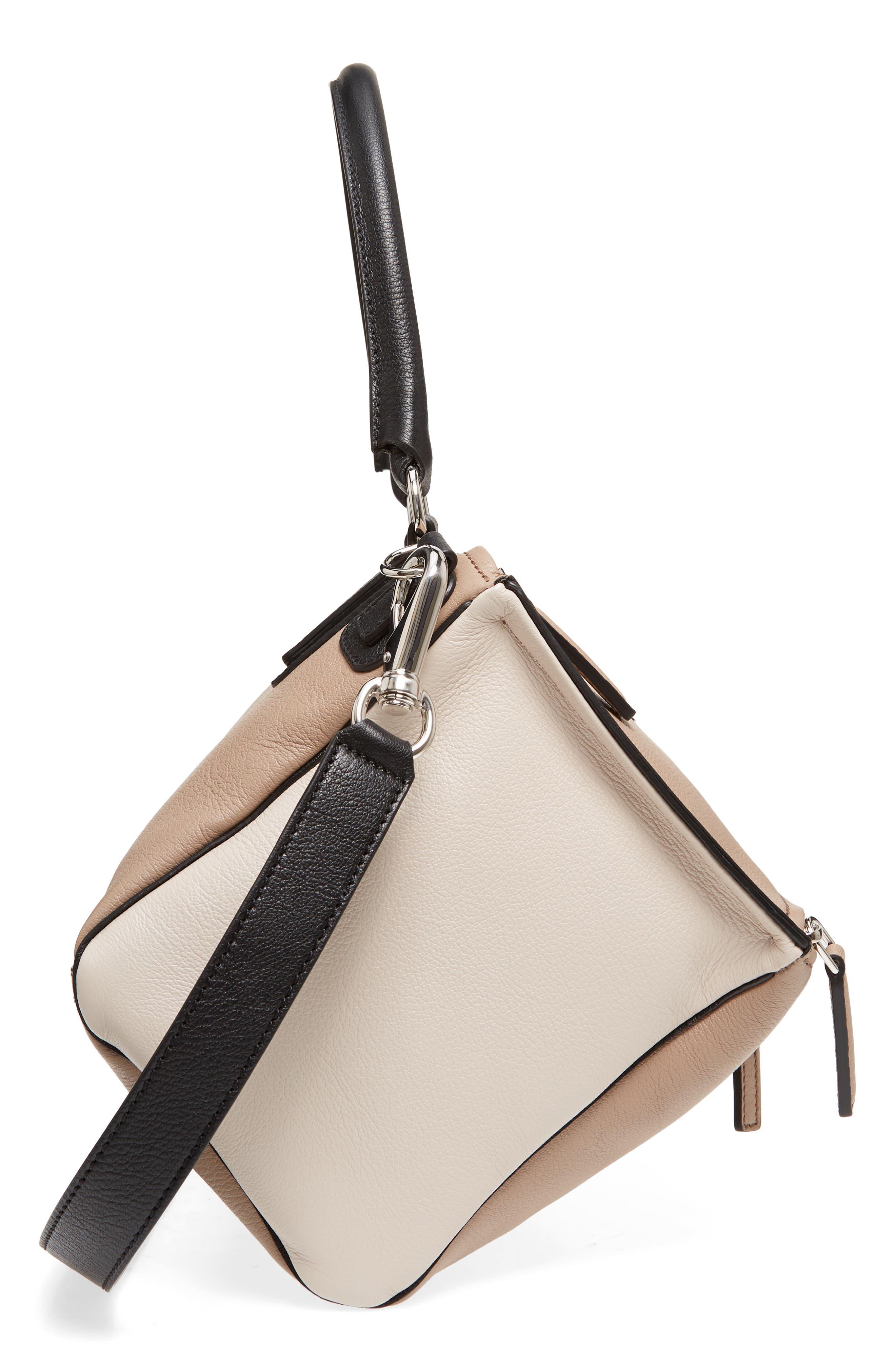 Medium Pandora Box Tricolor Leather Crossbody Bag,                             Alternate thumbnail 5, color,                             Linen
