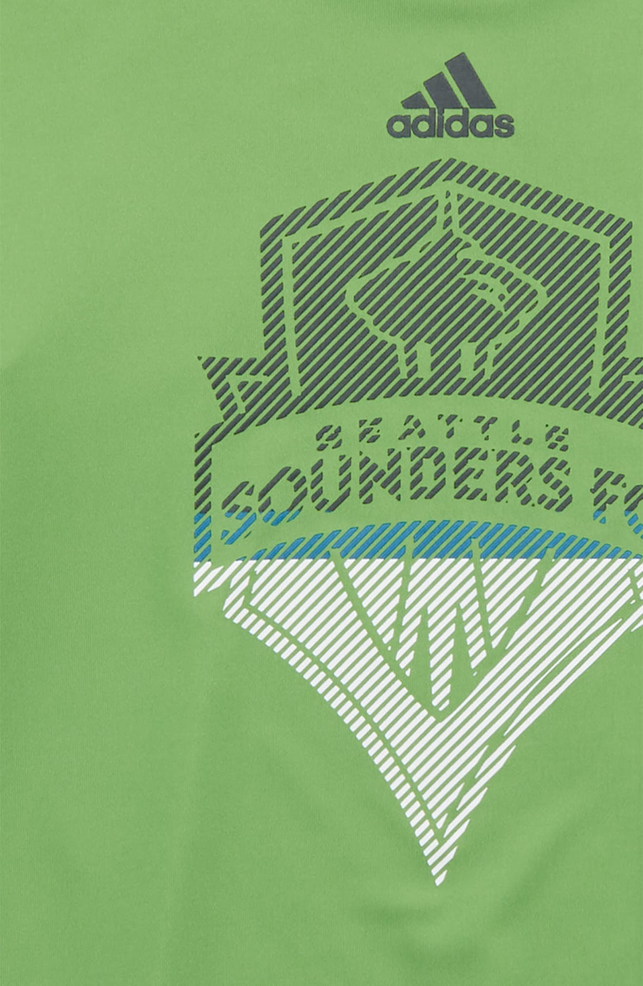 MLS Seattle Sounders FC Climalite<sup>®</sup> T-Shirt,                             Alternate thumbnail 2, color,                             Green