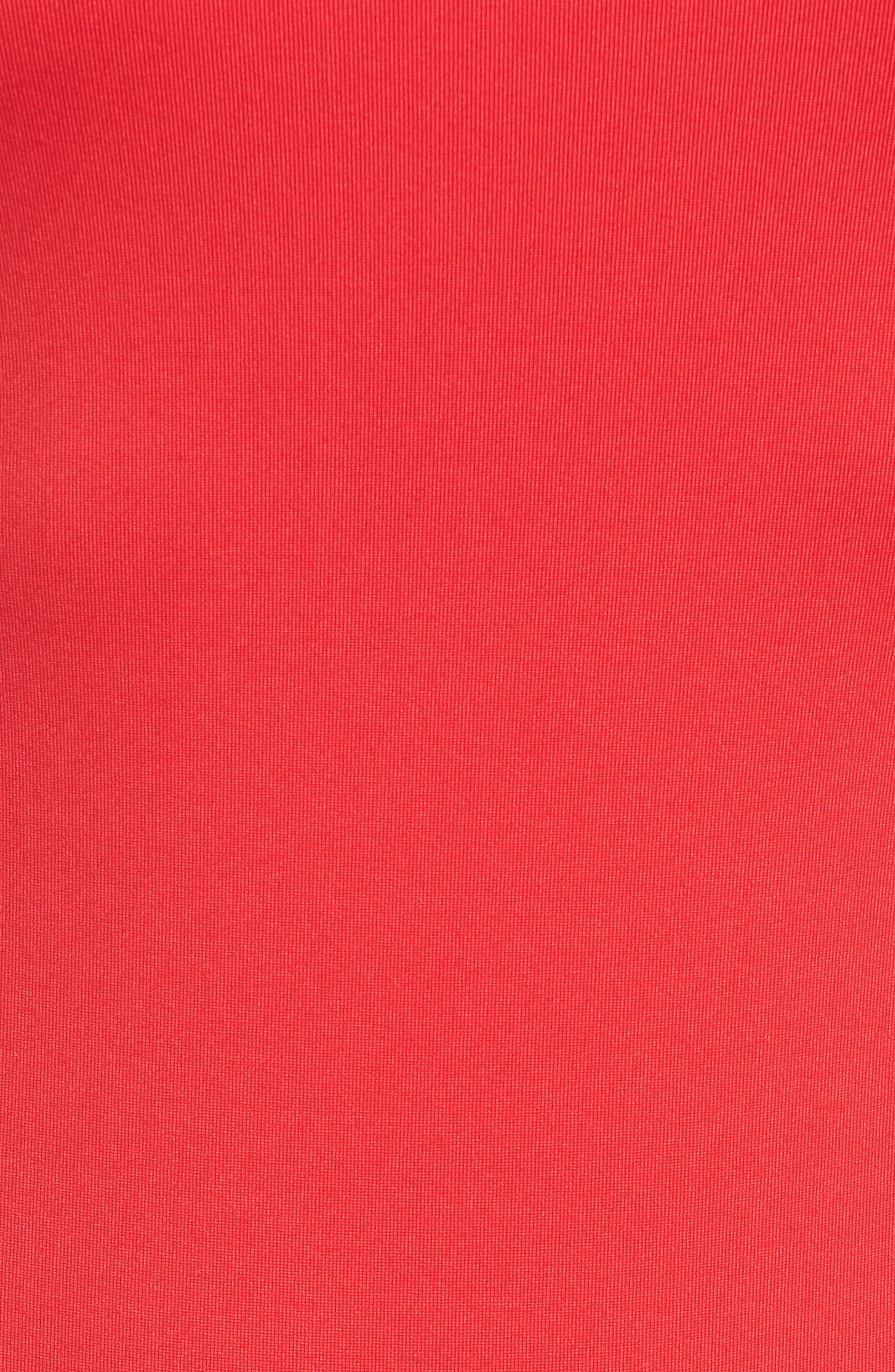 Super Scoop Bodysuit,                             Alternate thumbnail 5, color,                             Poppy