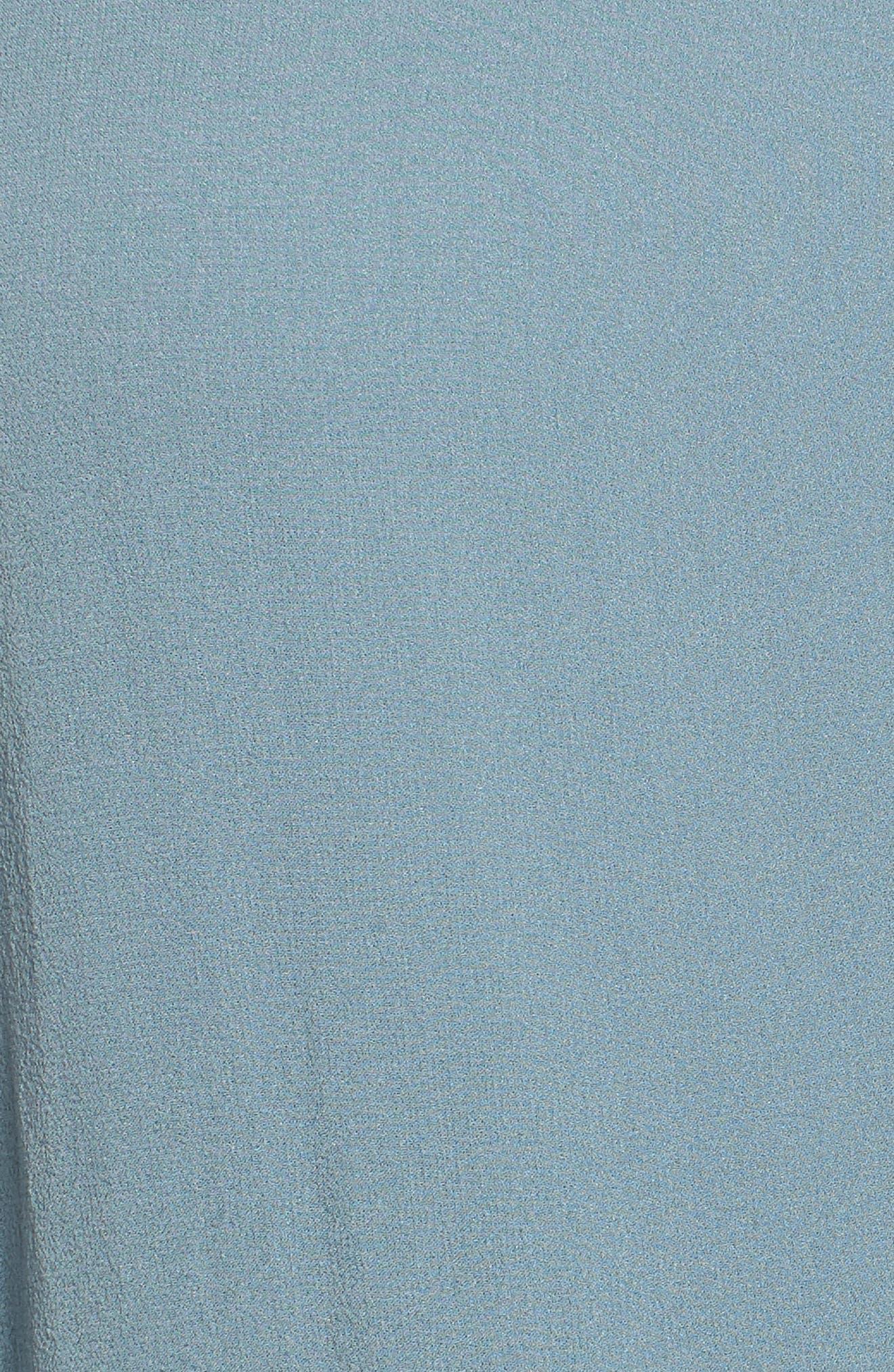 Belted Caftan Dress,                             Alternate thumbnail 6, color,                             Blue Steel