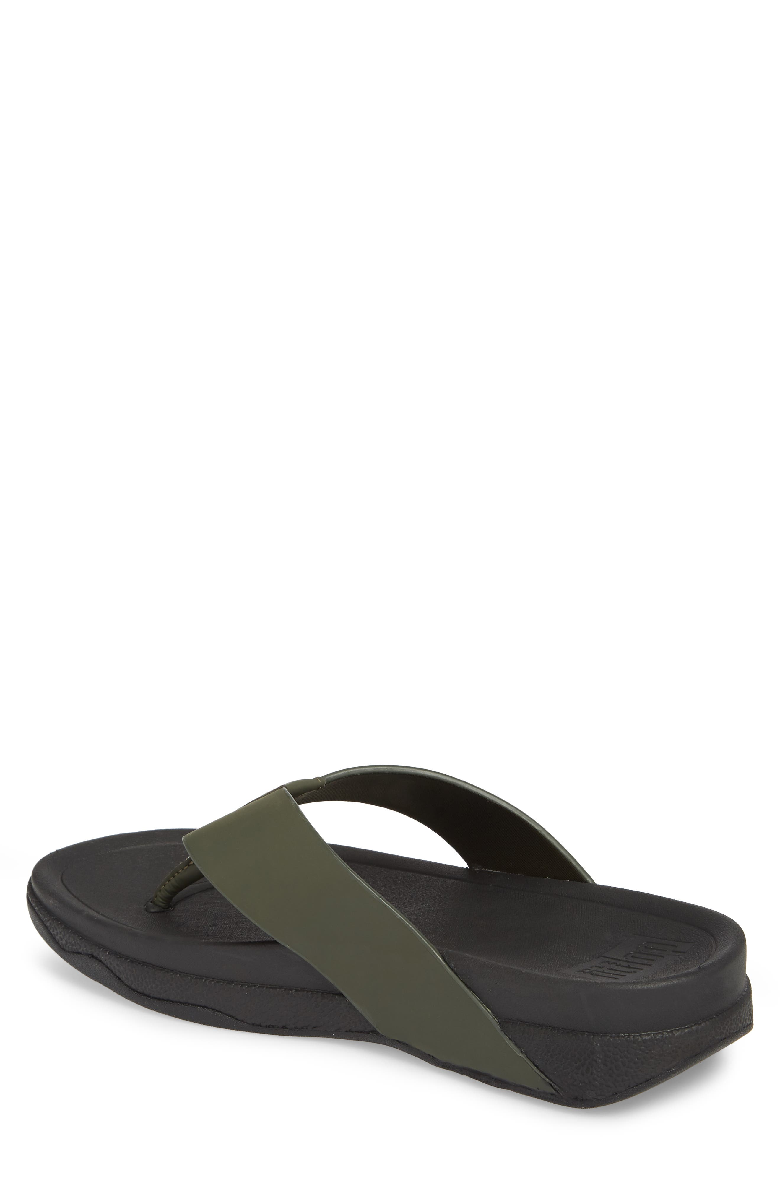 Surfer Toe Flip Flop,                             Alternate thumbnail 2, color,                             Camouflage Green