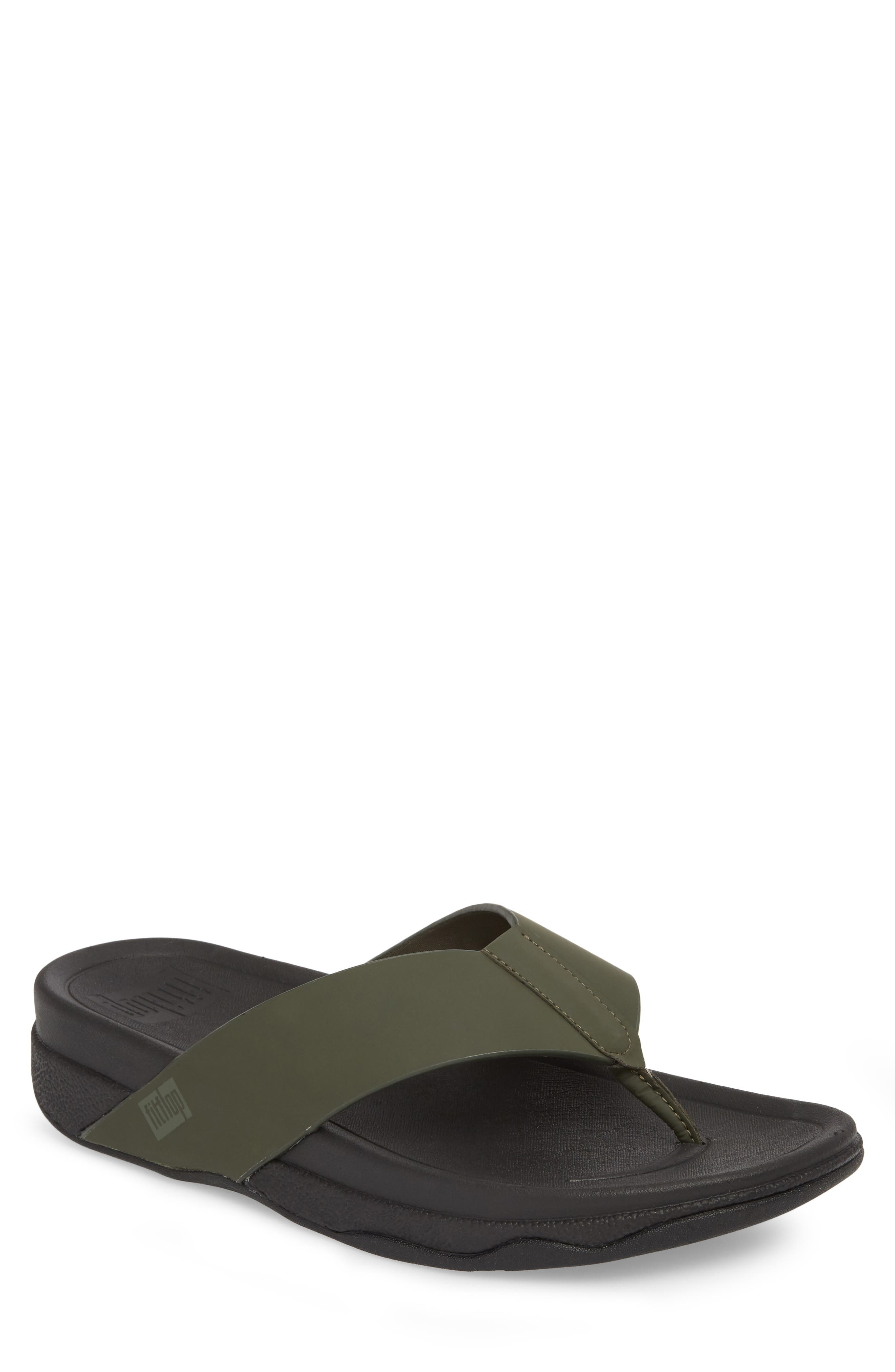 Surfer Toe Flip Flop,                             Main thumbnail 1, color,                             Camouflage Green