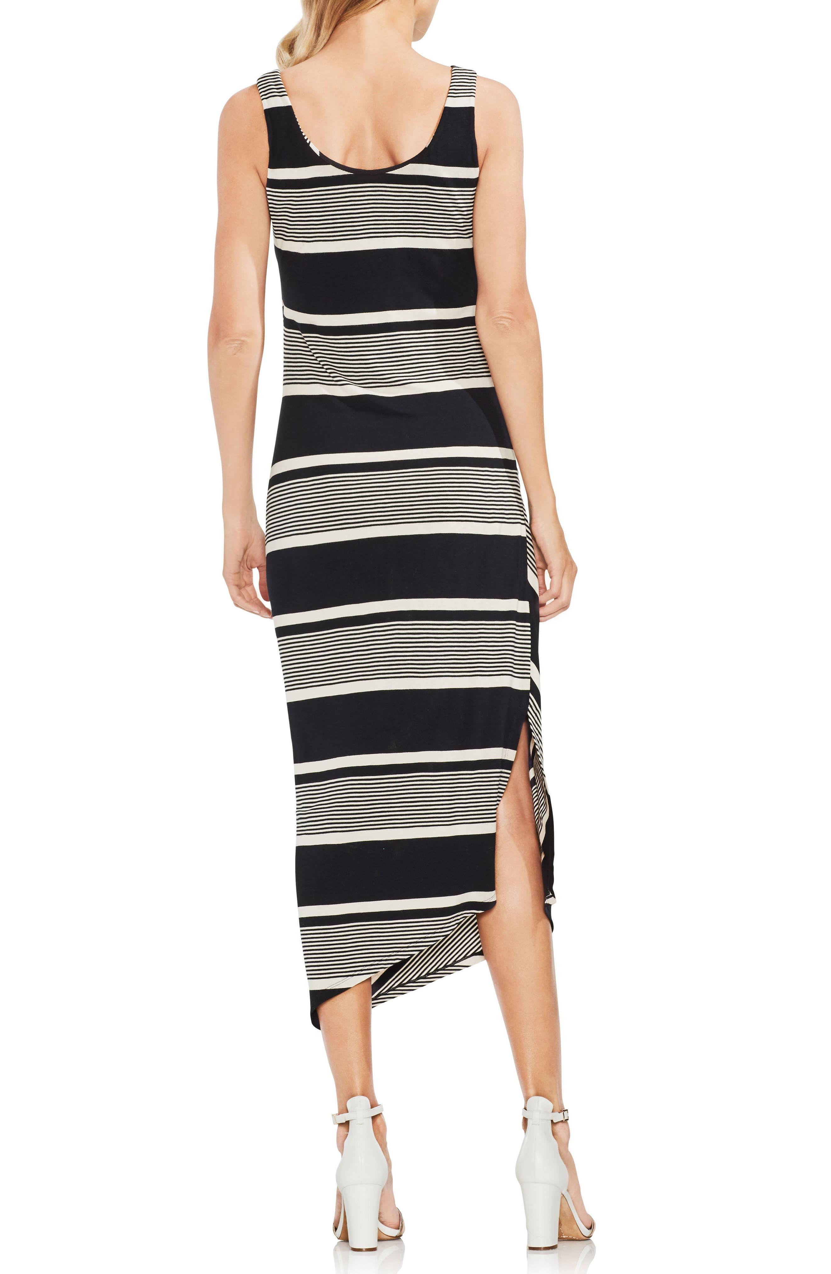Venue Block Stripe Ruched Body-Con Dress,                             Alternate thumbnail 2, color,                             060-Rich Black