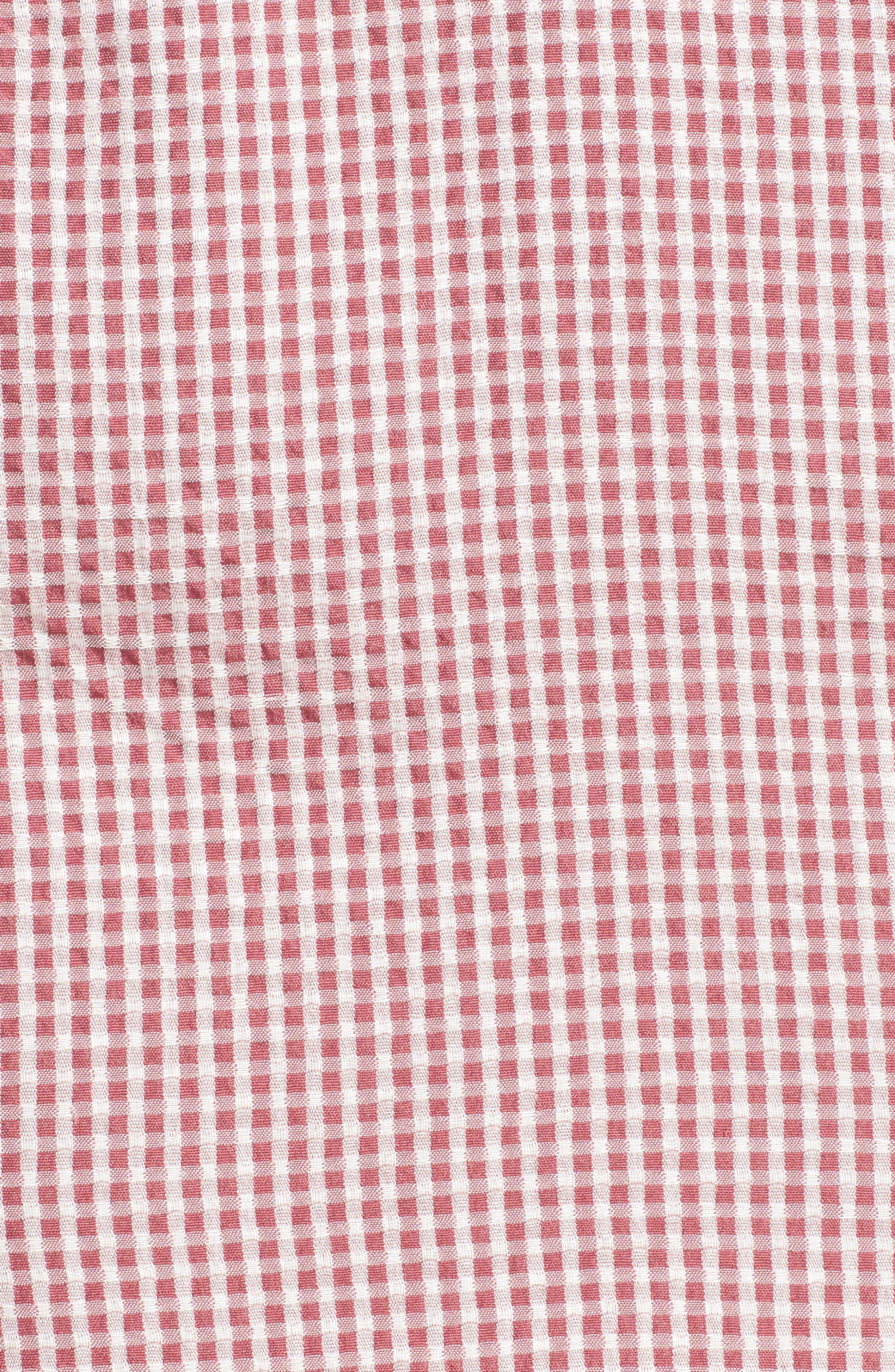 Asymmetrical Ruffle Dress,                             Alternate thumbnail 6, color,                             Red Gingham