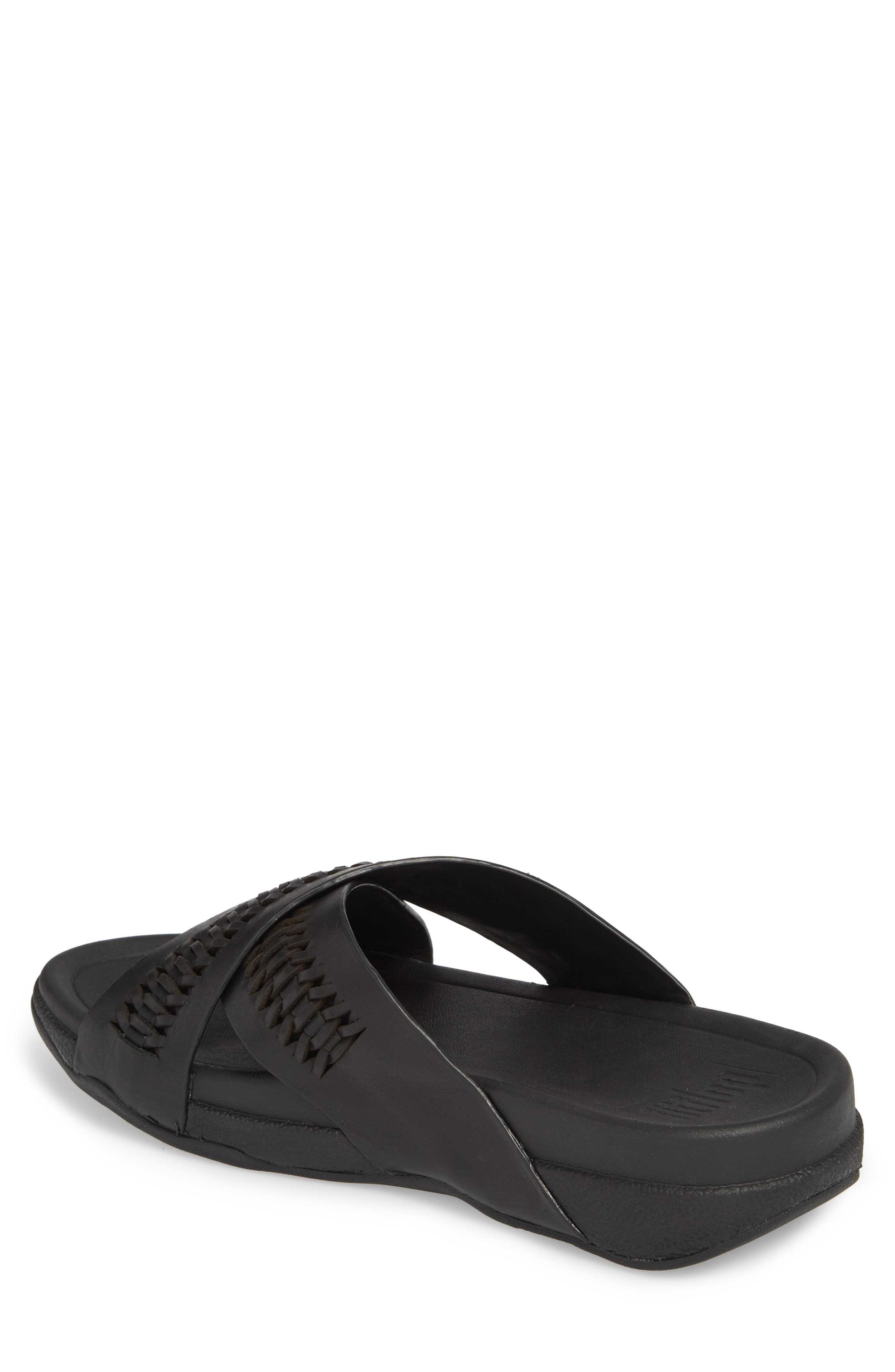Surfer Slide Sandal,                             Alternate thumbnail 2, color,                             Black