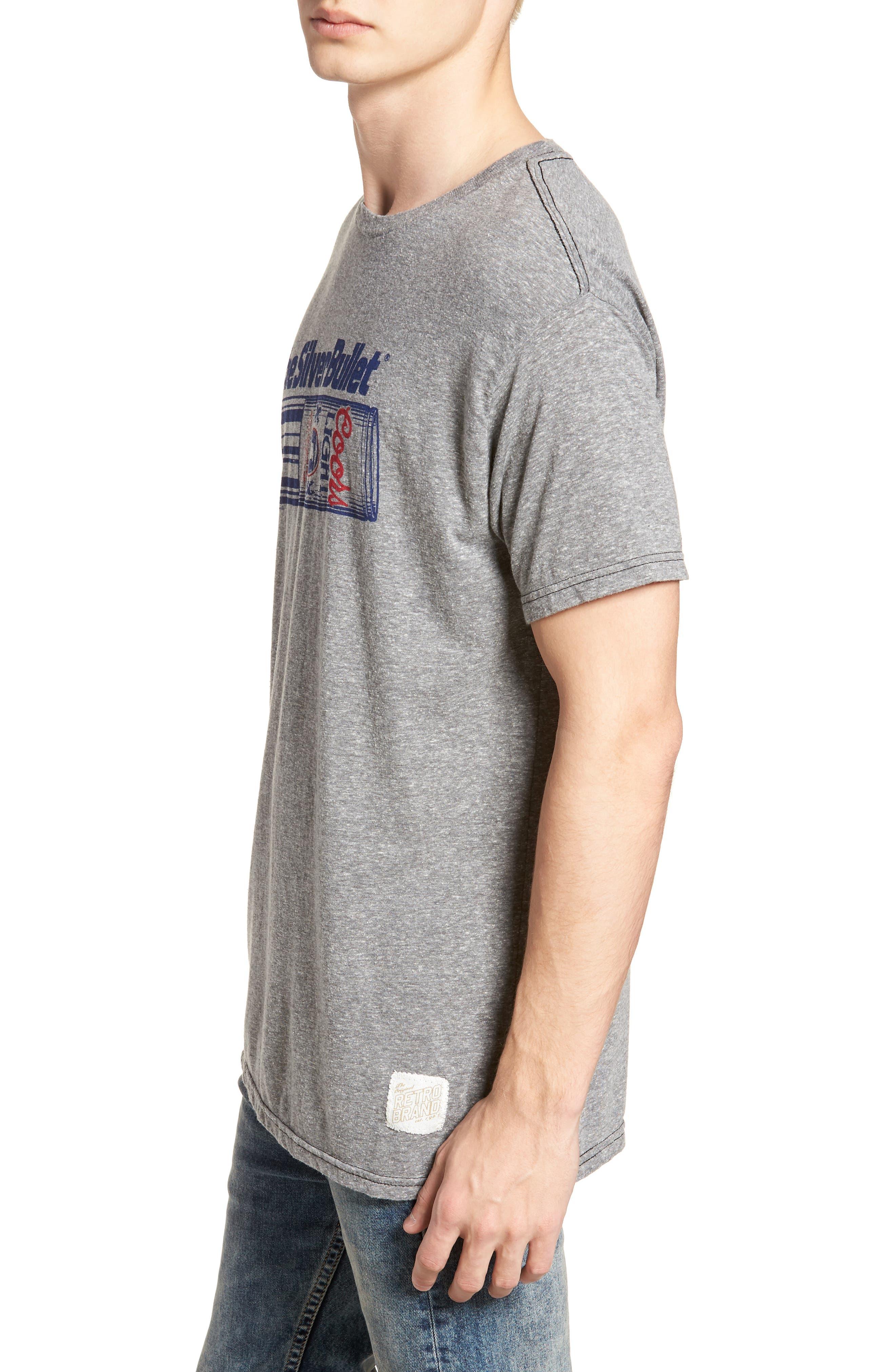 Original Retro Brand Silver Bullet Graphic T-Shirt,                             Alternate thumbnail 3, color,                             Streaky Grey