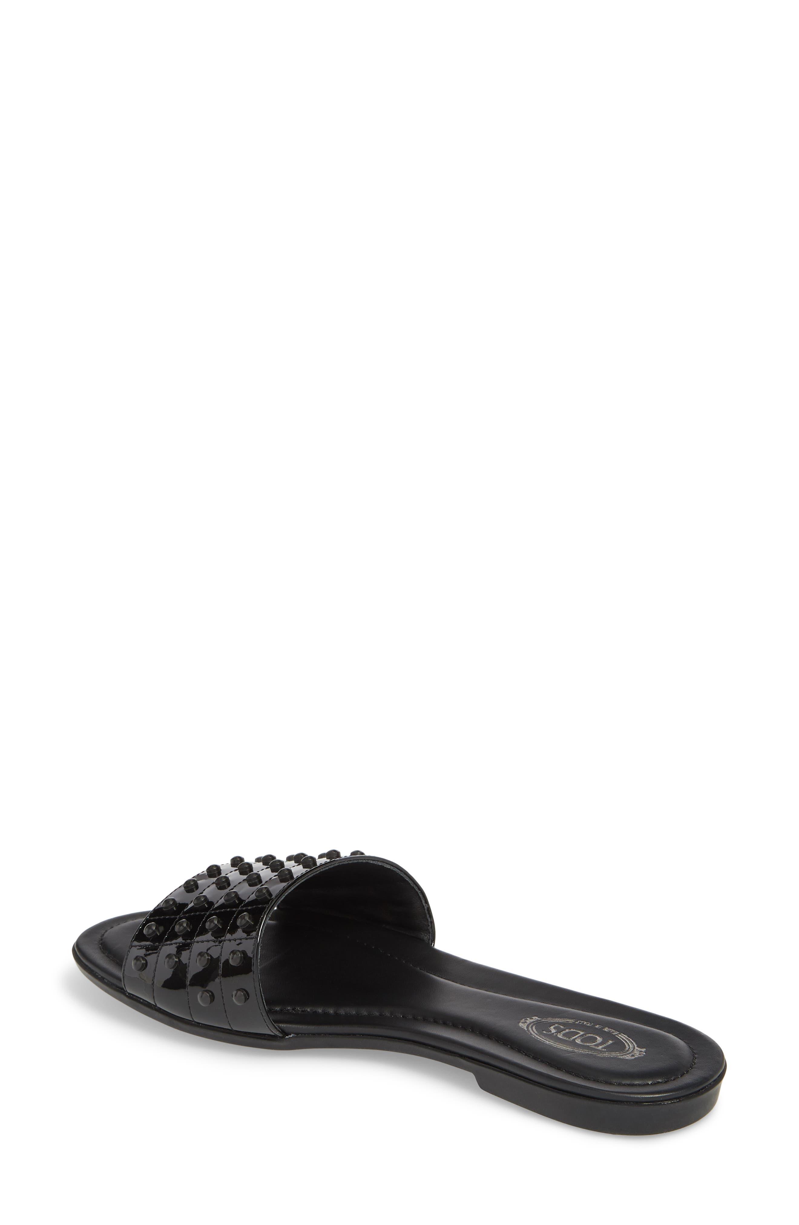 Gommini Slide Sandal,                             Alternate thumbnail 2, color,                             Black