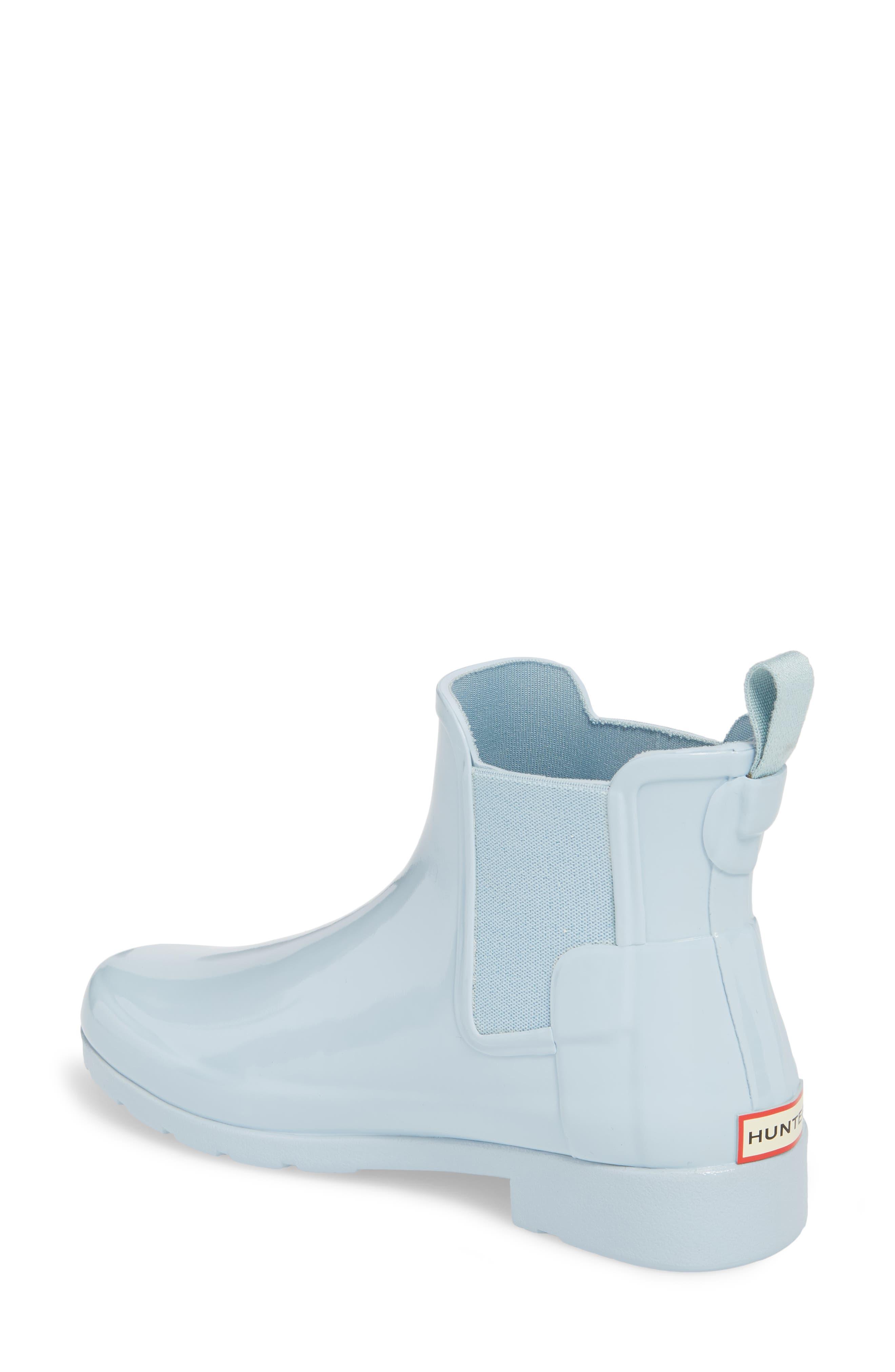 'Original Refined' Chelsea Rain Boot,                             Alternate thumbnail 2, color,                             Fountain Blue