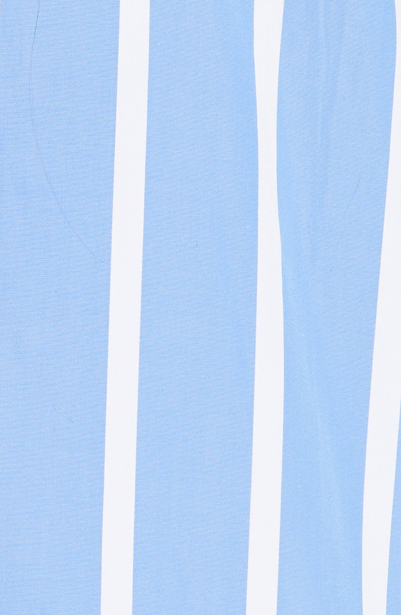 Front to Back Cotton Shirt,                             Alternate thumbnail 5, color,                             Blue Stripe