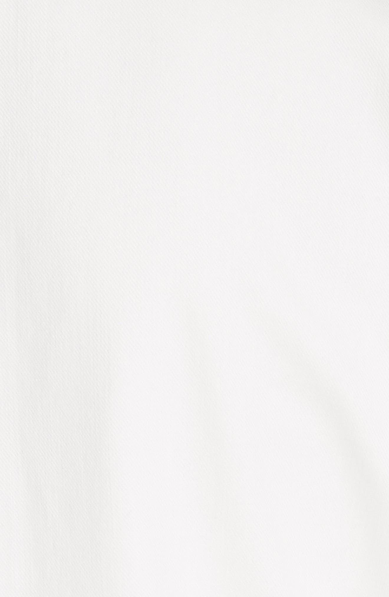 cutwork denim shirtdress,                             Alternate thumbnail 5, color,                             White