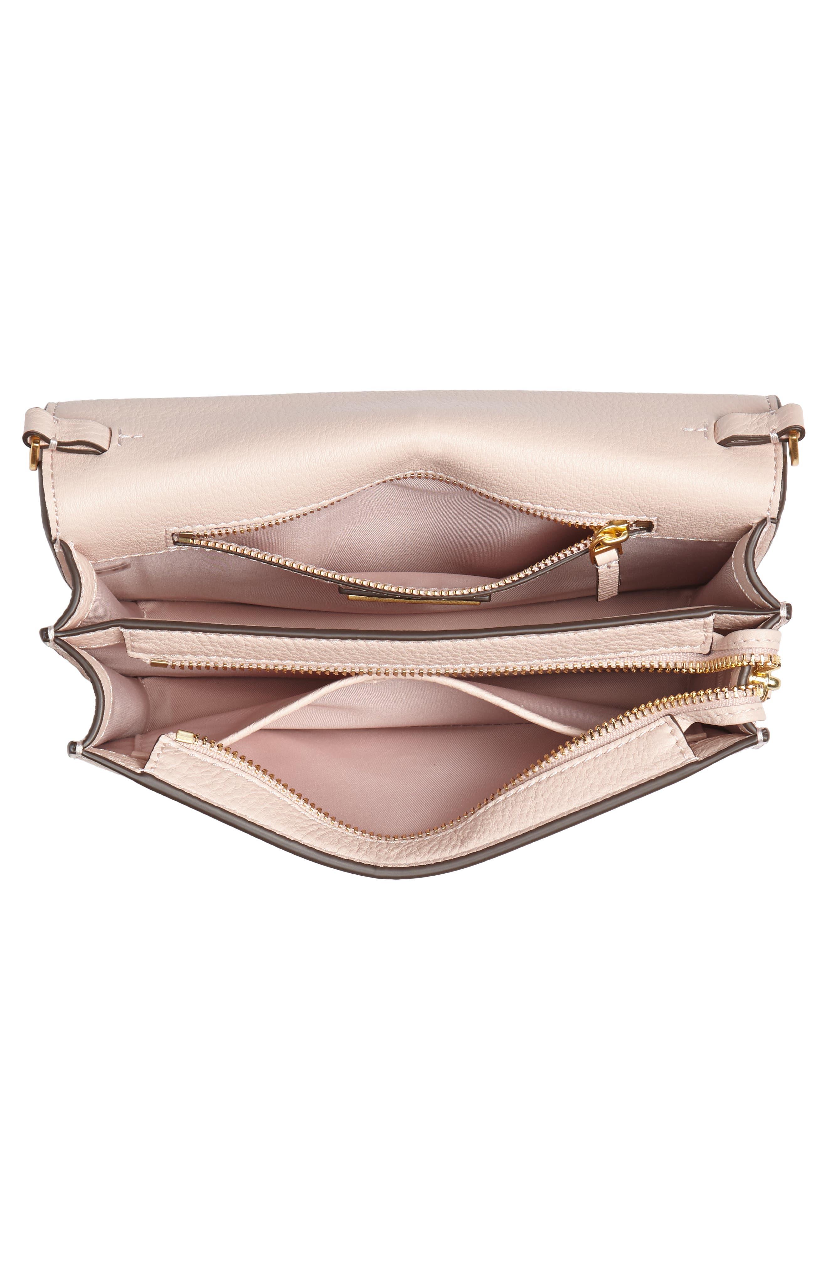 Georgia Pebble Leather Shoulder Bag,                             Alternate thumbnail 6, color,                             Shell Pink