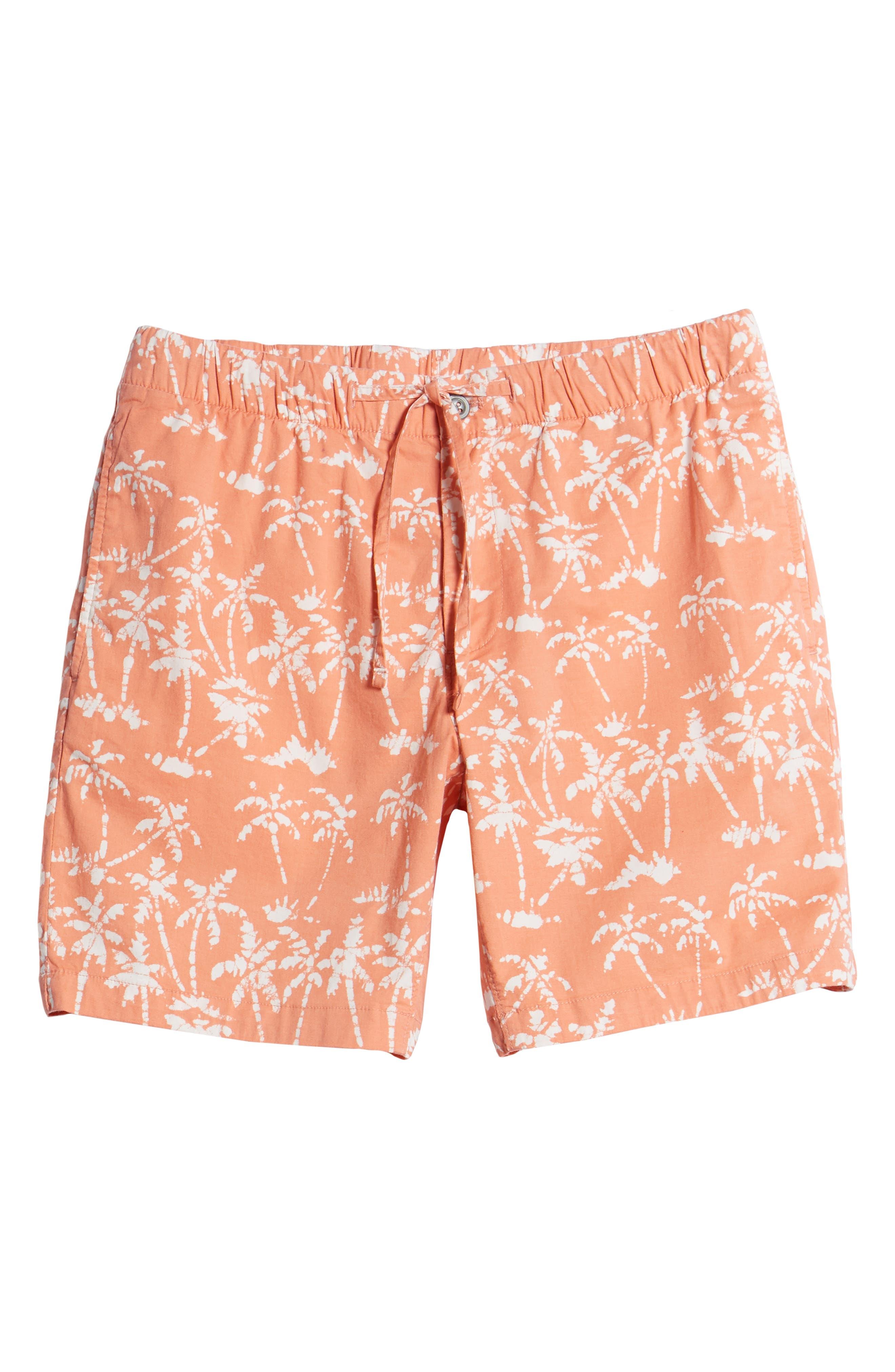 Print Beach Shorts,                             Alternate thumbnail 6, color,                             Batik Palms Himalayan Salt